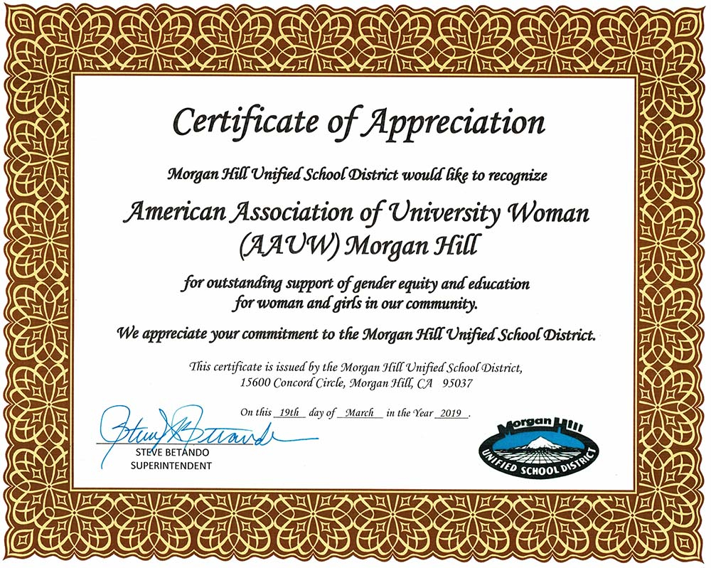 Community Outreach – Aauw Morgan Hill Within Morgan Hill Unified School Calendar