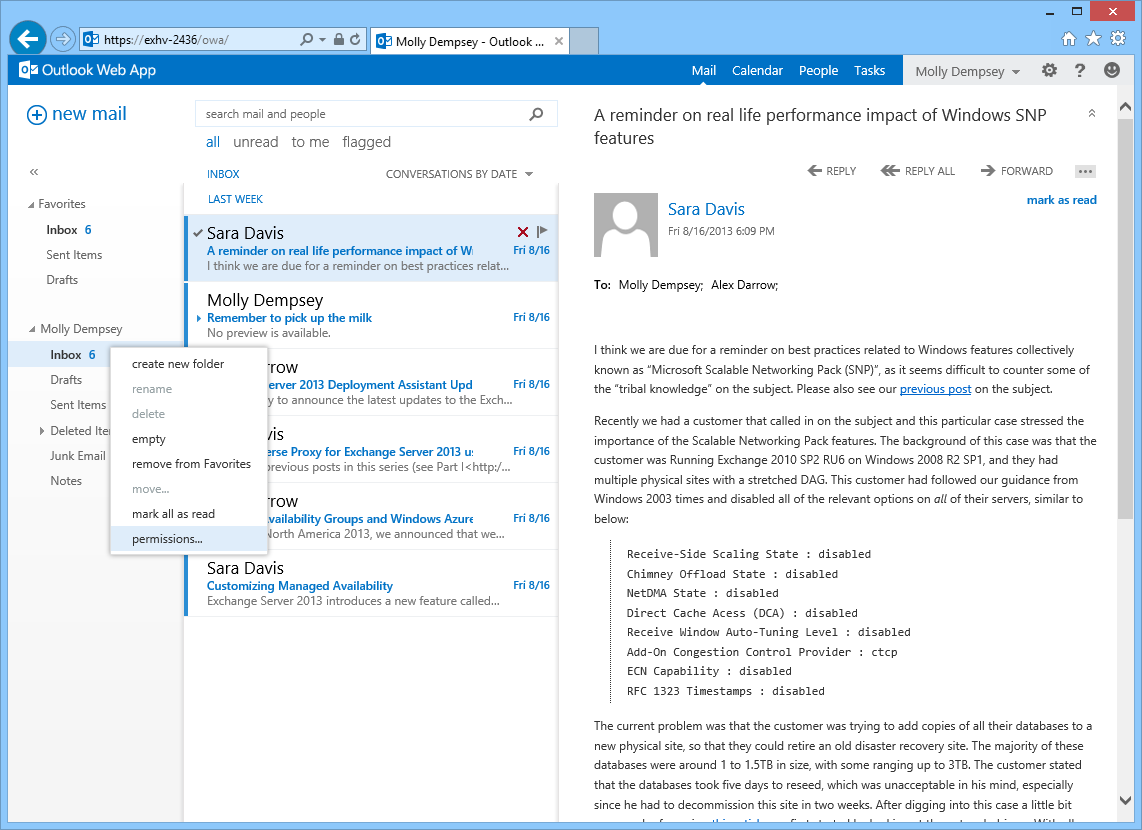 Configuring Delegate Access In Outlook Web App - Microsoft with Grant Access To Outlook Calendar