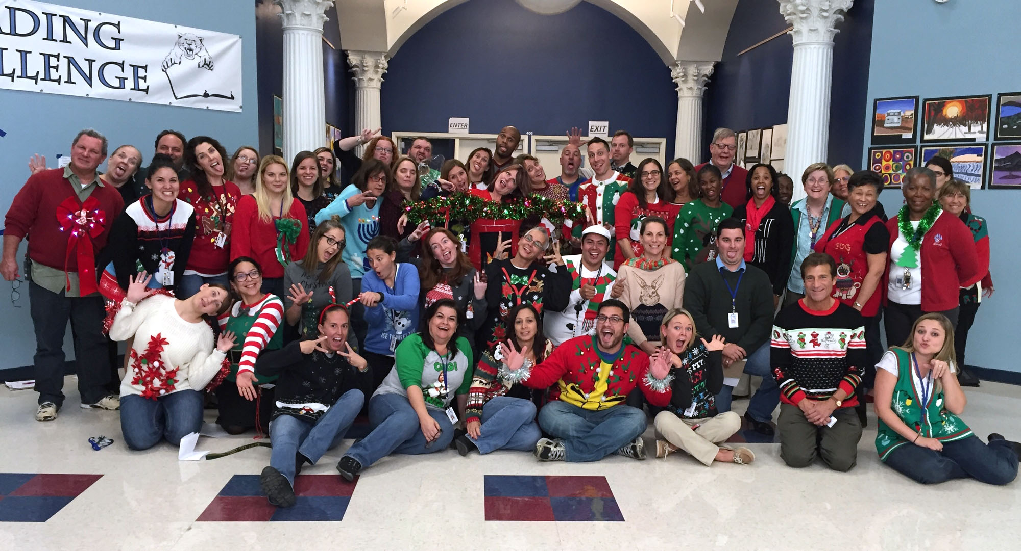 "Coral Springs Charter School Staff Holds ""ugly Holiday Inside School Schedule For Springs Charter School This Week"