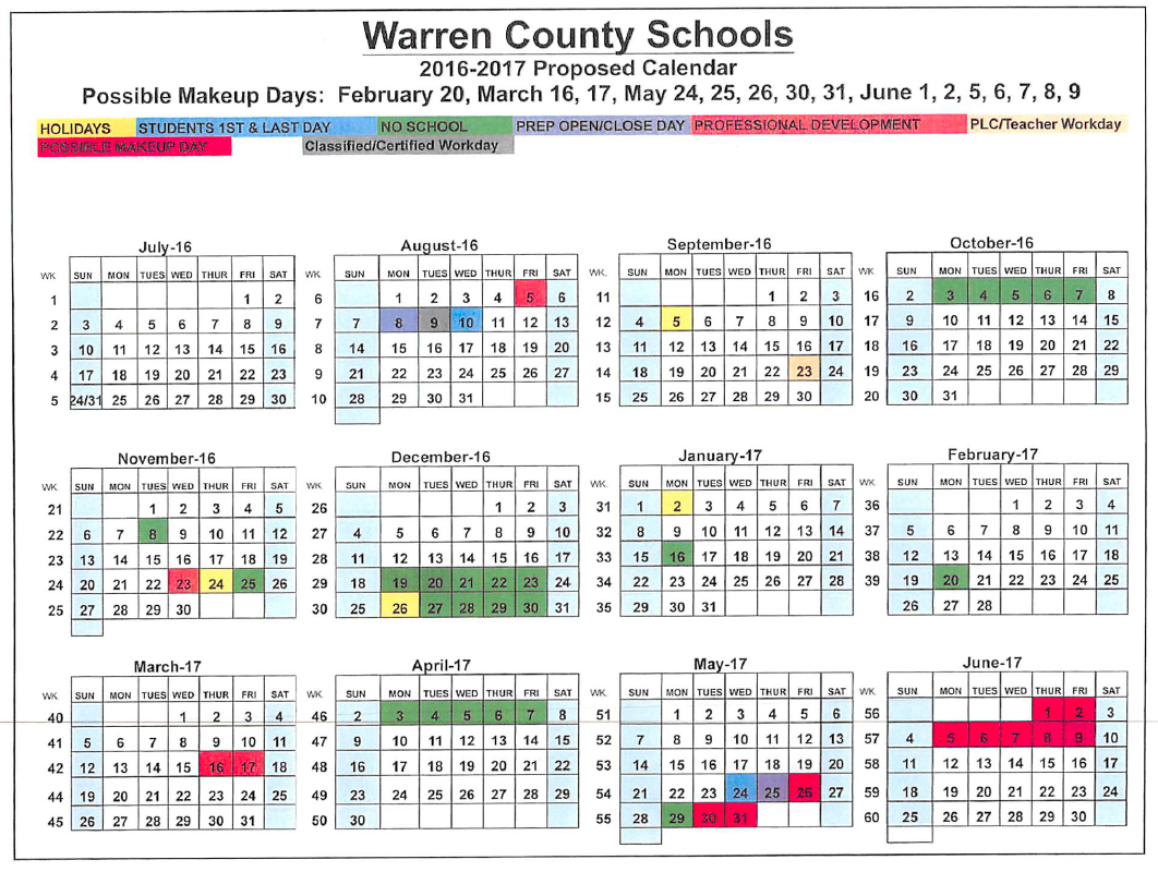 County Schools Adopt Calendar | News | Bgdailynews Regarding Warren Co Ky School Spring Break