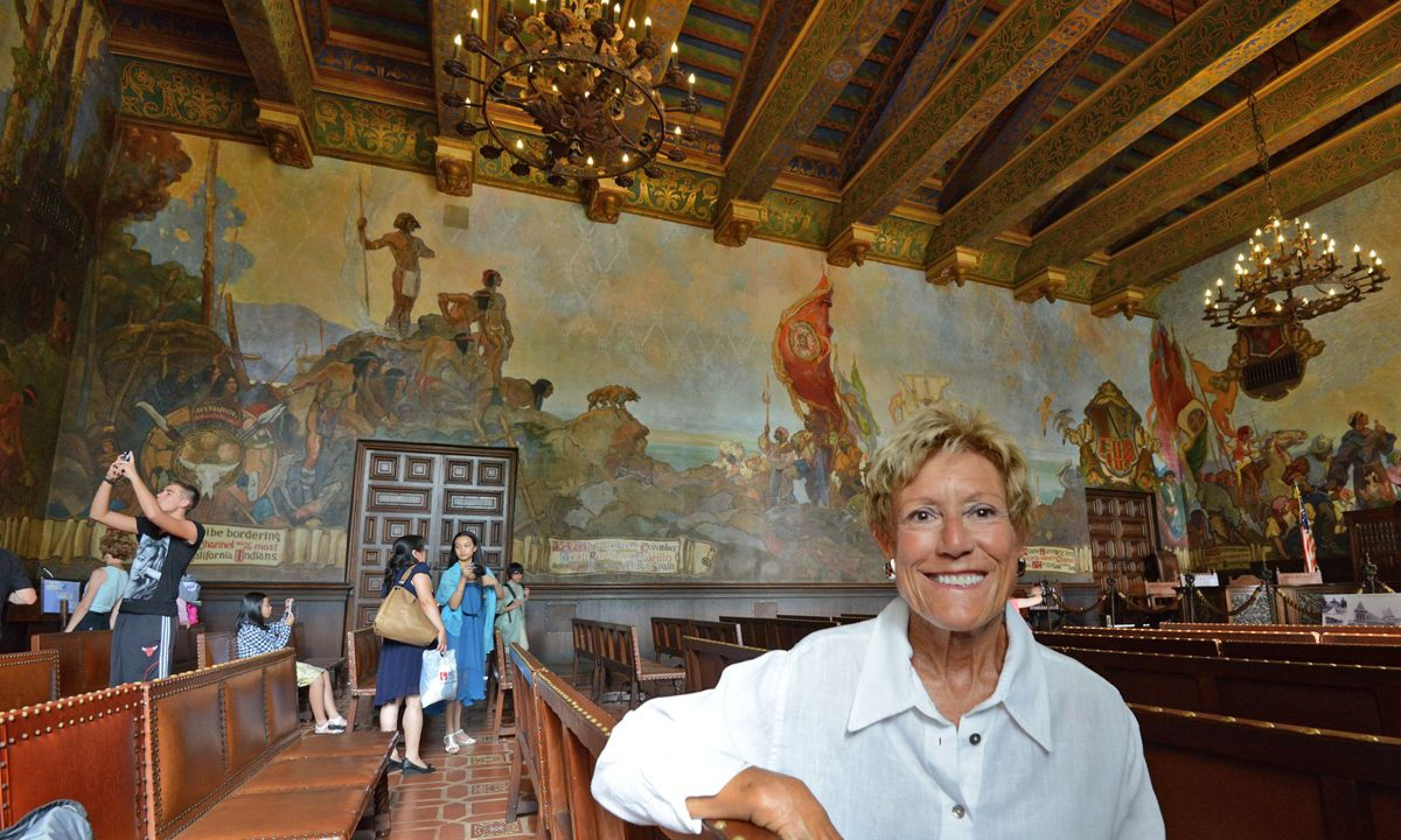 Courthouse Mural Room Makes Santa Barbara County's History A Within Santa Barbara County Courthouse Calendar