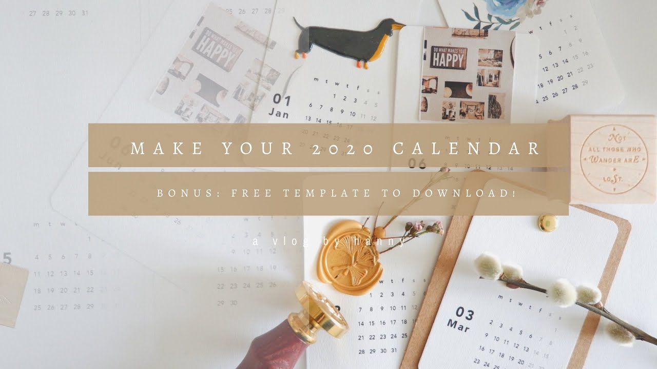 Create Your Own 2020 Calendar: W/ Free Template To Download! Inside Create Your Own Calendar Printable