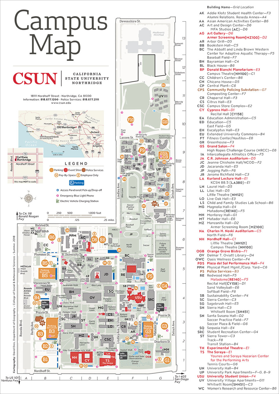 Csun Maps | California State University, Northridge Within Cal State Northridge School Calendar