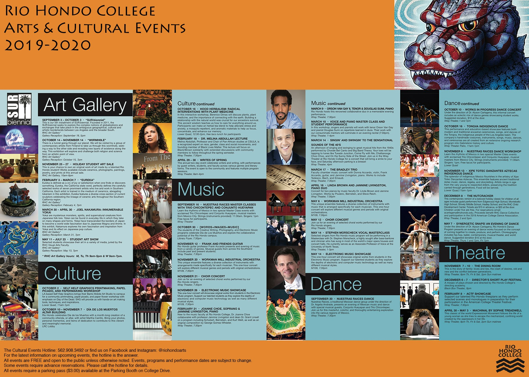 Cultural Events Calendar | Arts Division With Orange County Performing Arts Calendar