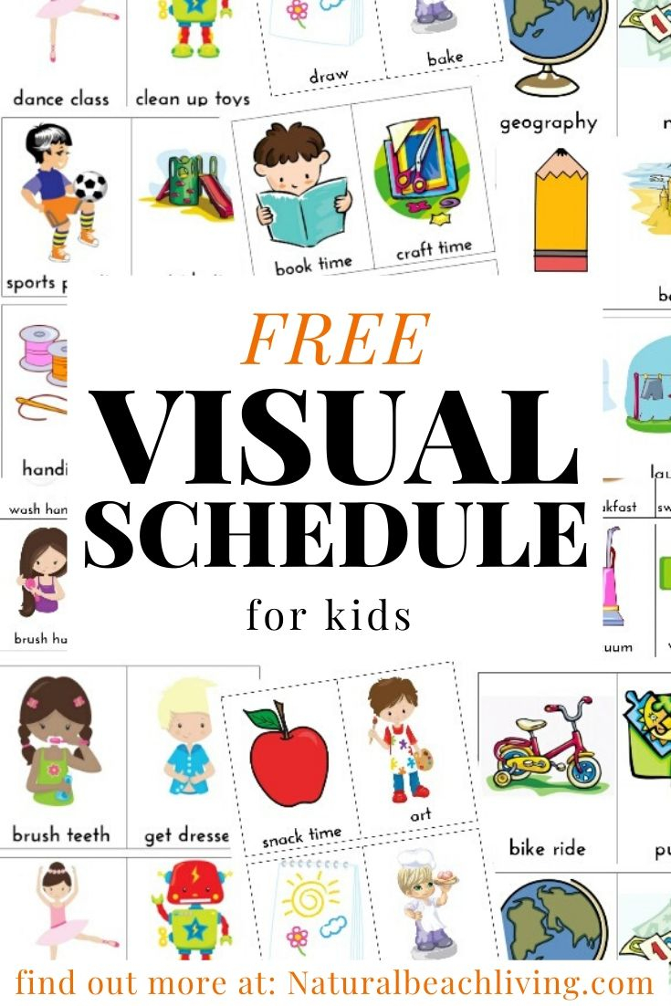 Daily Visual Schedule For Kids Free Printable - Natural Intended For Printable A Day Bday Schedule Virginia Beach