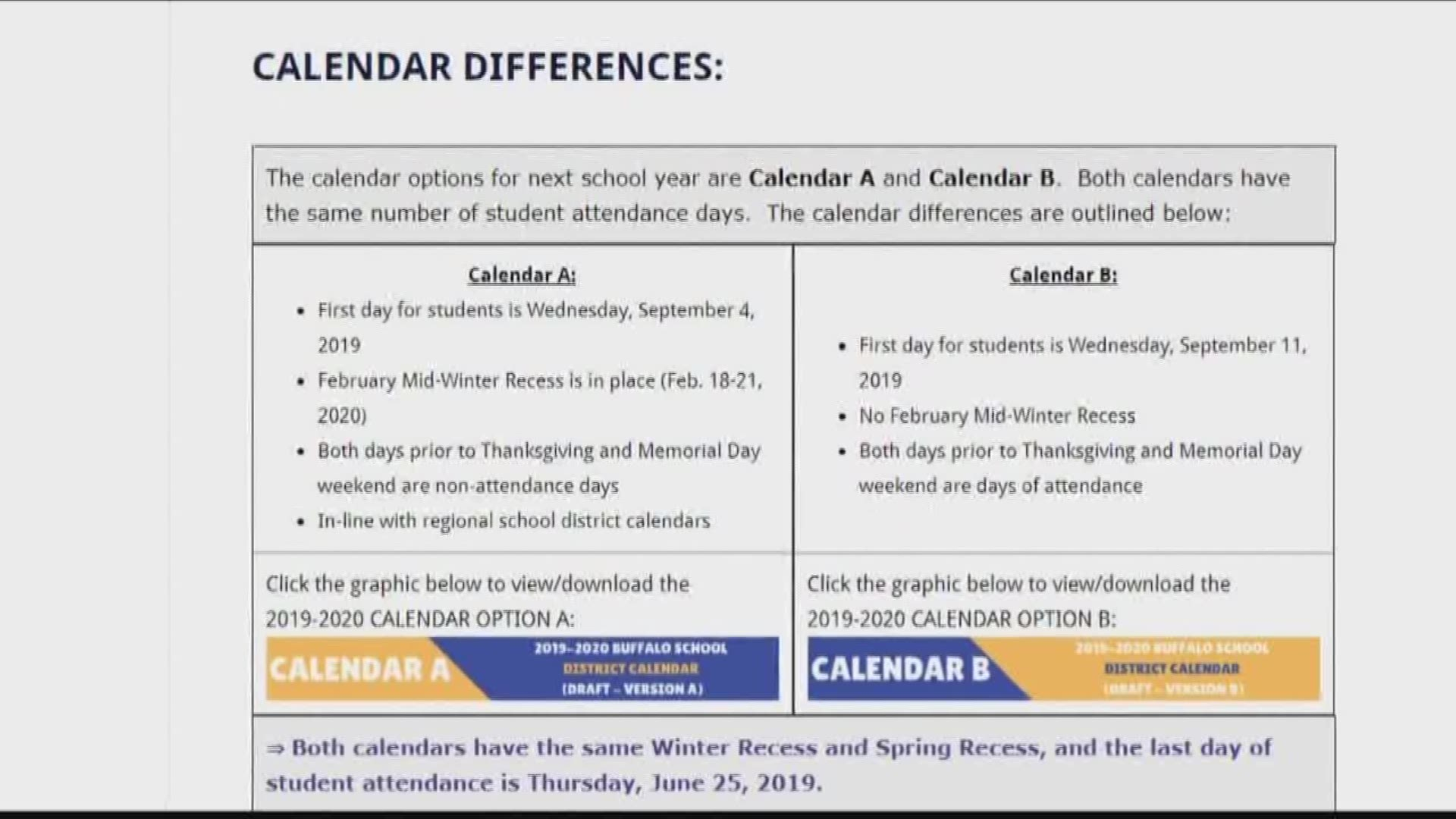Debate Erupts Over Buffalo School Calendar Inside Albany City School District Calendar 2021