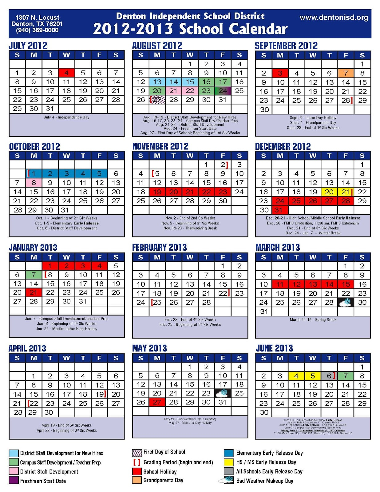 Denton Isd School Calendar For Brownsville Tx Isd Calendar