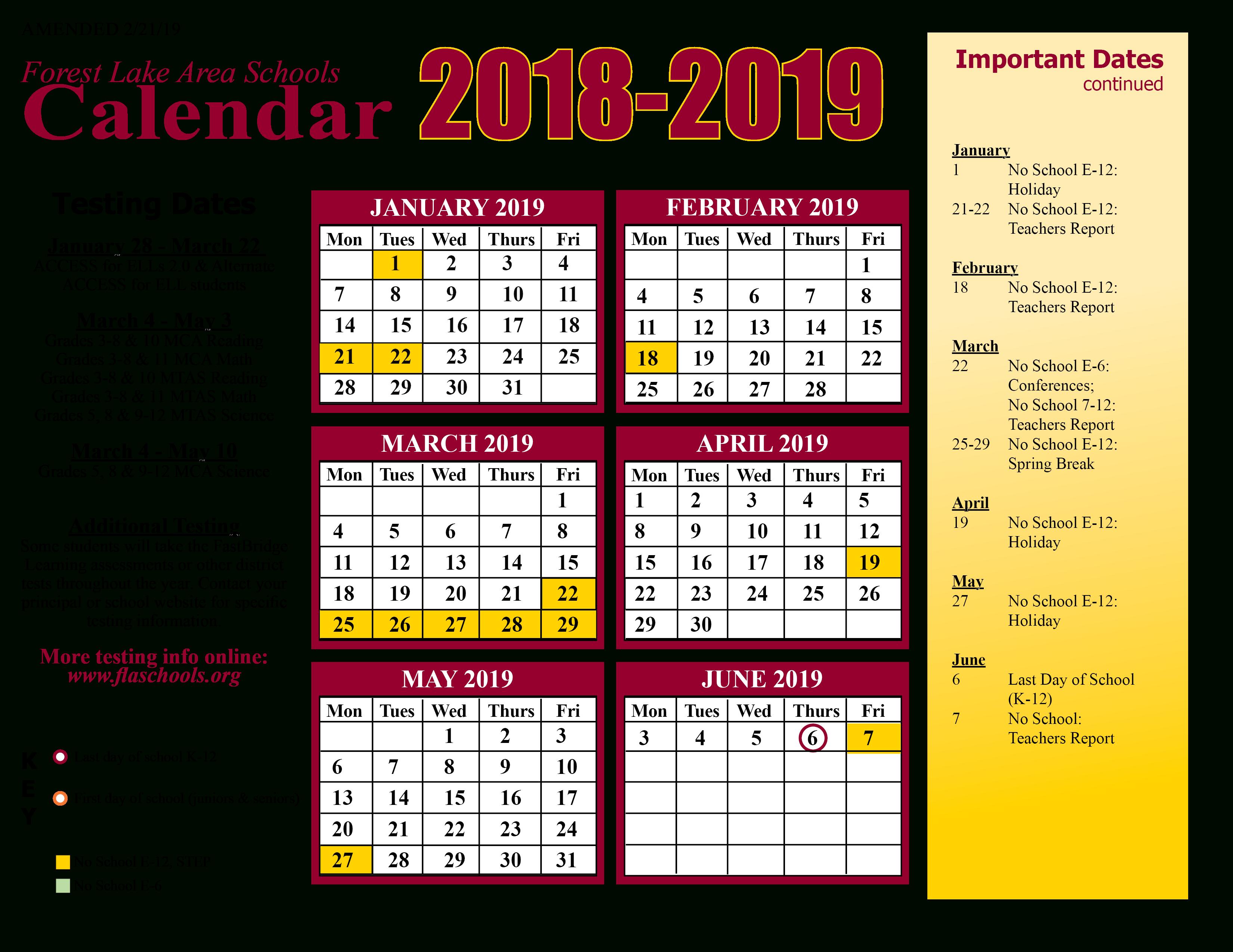 District Calendar / Home For White Bear Lake Schools Activites Calendar 2021 2021