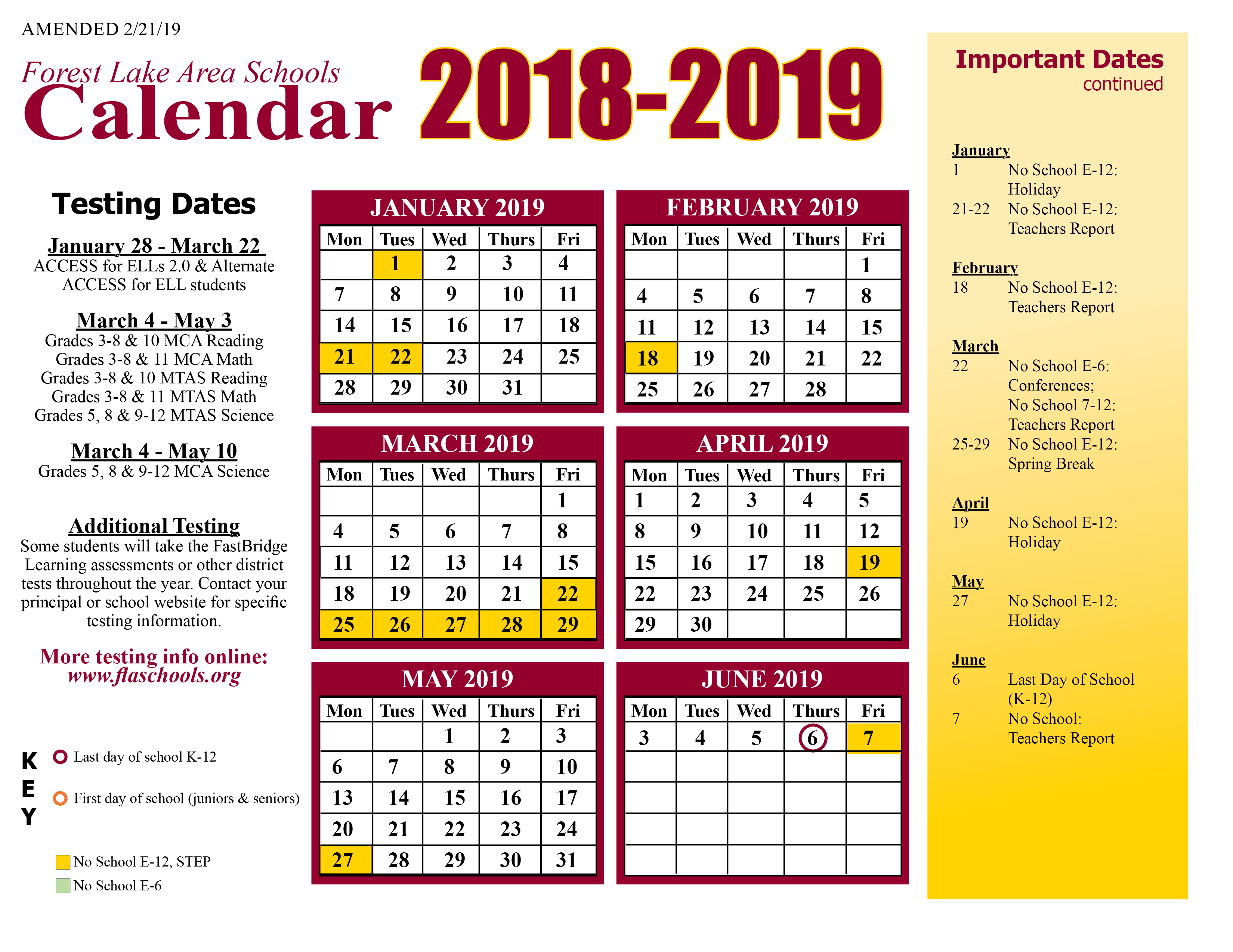 District Calendar / Home Intended For Eden Prairie High School Calendar 2021
