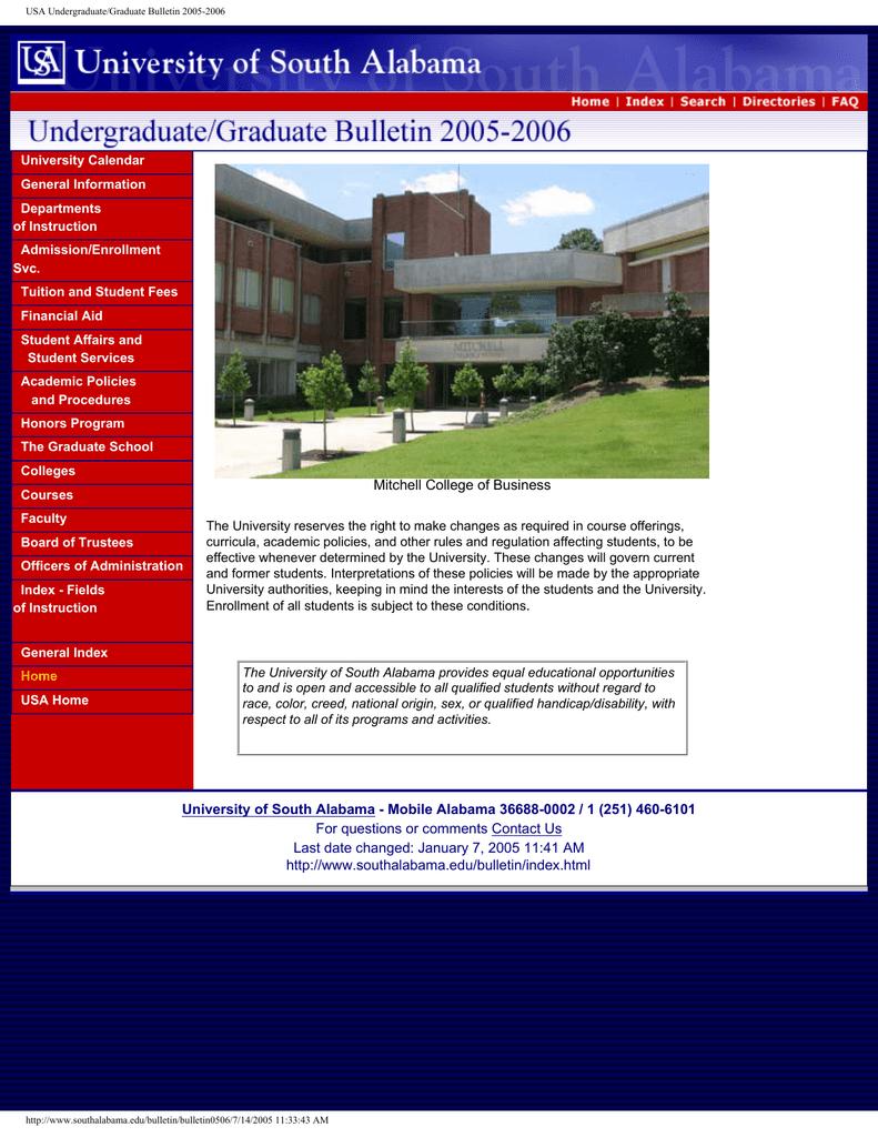 Document 11135598 Pertaining To University Of South Alabama School Calendar