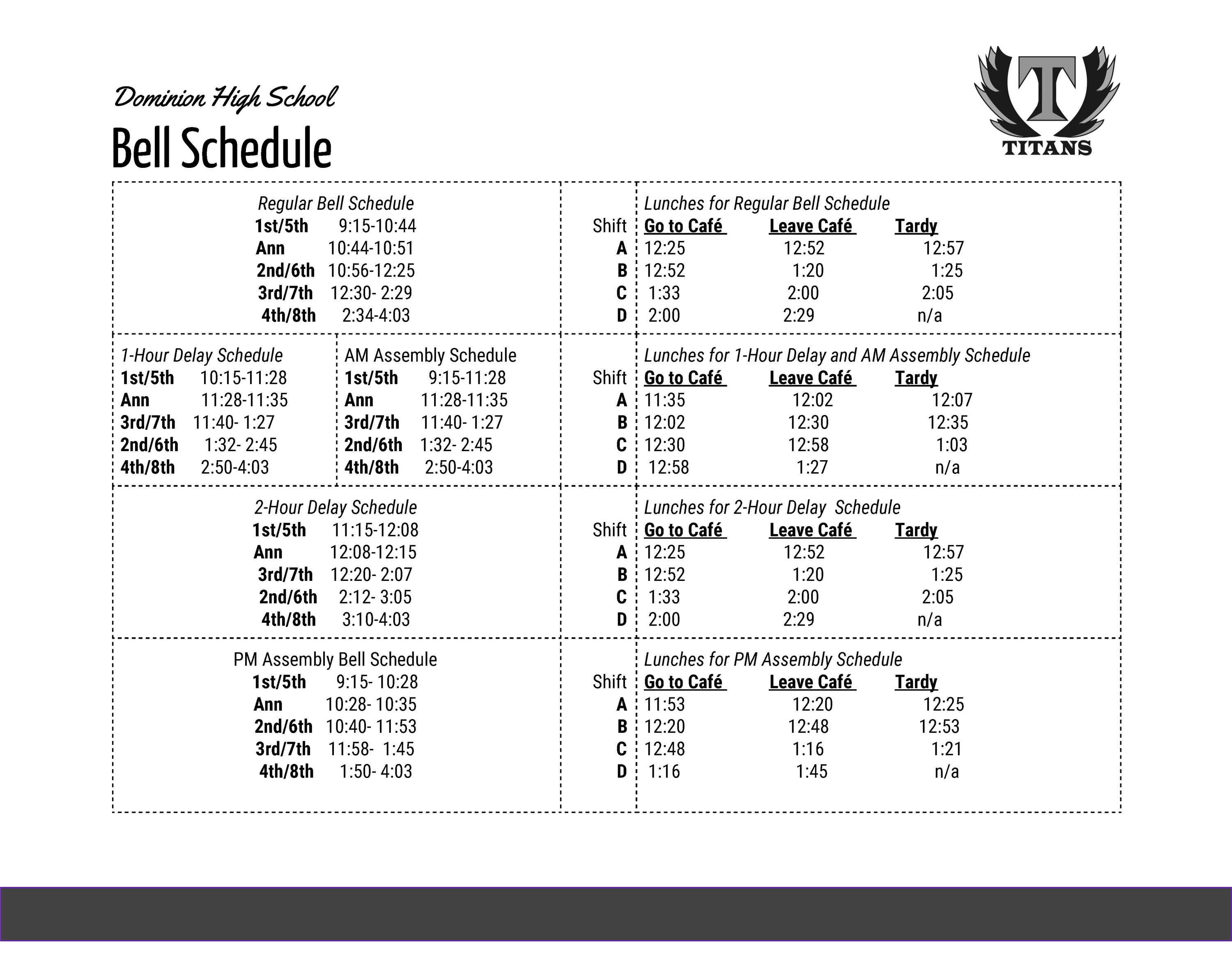Dominion High School / Overview For Monroe Clark Middle School Calendar