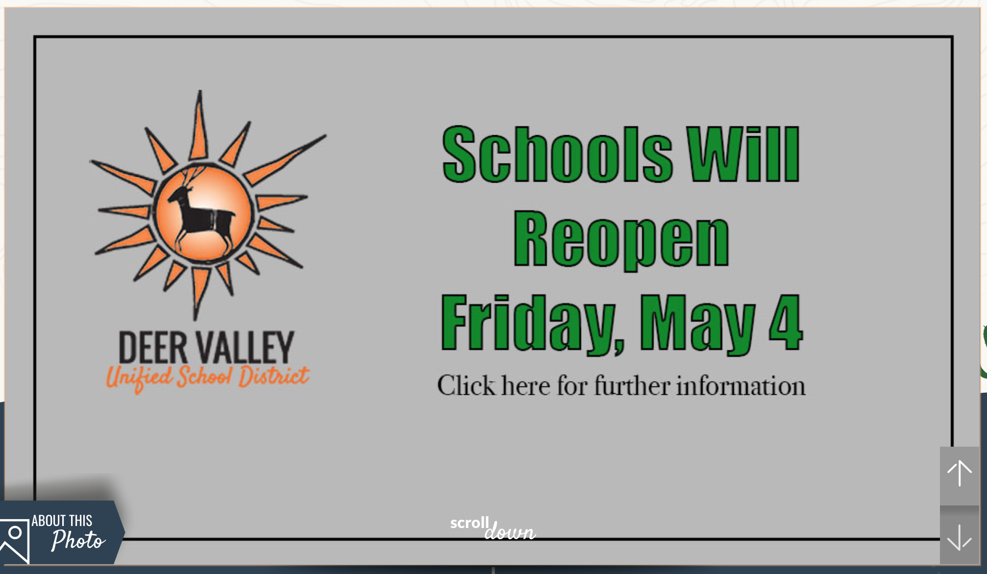 Dvusd Schools Reopen Friday, May 4 | North Phoenix News With Deer Valley Unified School District Calendar