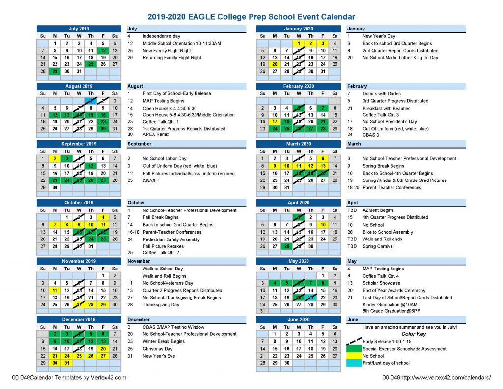 Eagle South Mountain Calendar | Eagle College Prep With Regard To Gcu Academic Calendar 2021 20