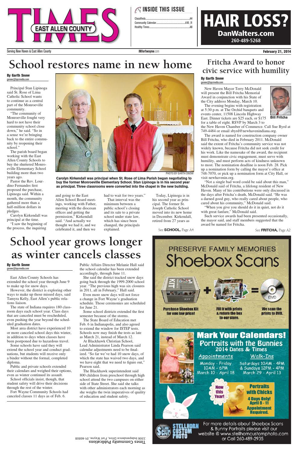 East Allen County Times – Feb. 2014Kpc Media Group – Issuu With East Allen County Schools Calendar
