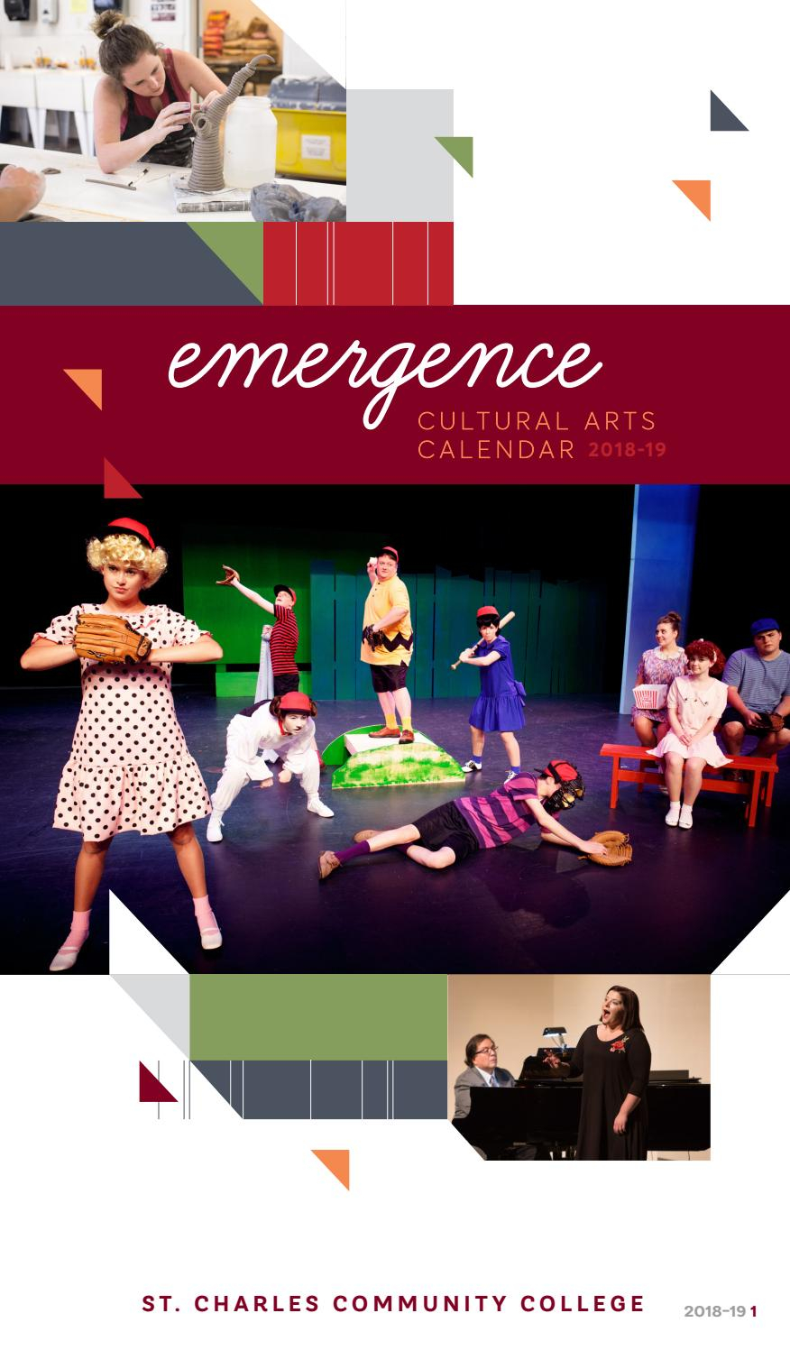 Emergence Arts Calendar 2018 2019St. Charles Community Intended For St Charles Commnity College Calendar'