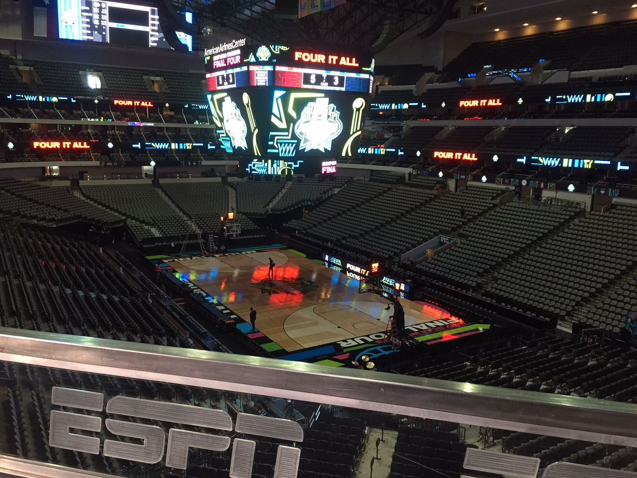 Espn Sets The Stage For Women's Final Four Showdown In Dallas Inside American Airlines Center Printable Calendar