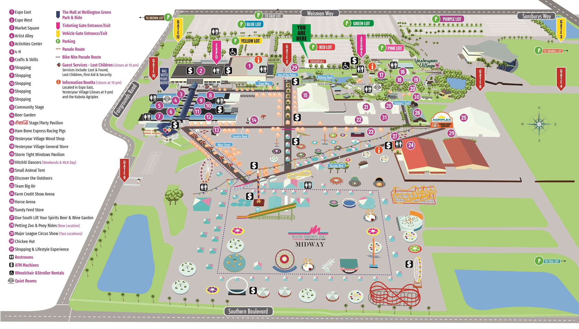 Fairgrounds Map Inside South Florida Fairgrounds Event Schedule