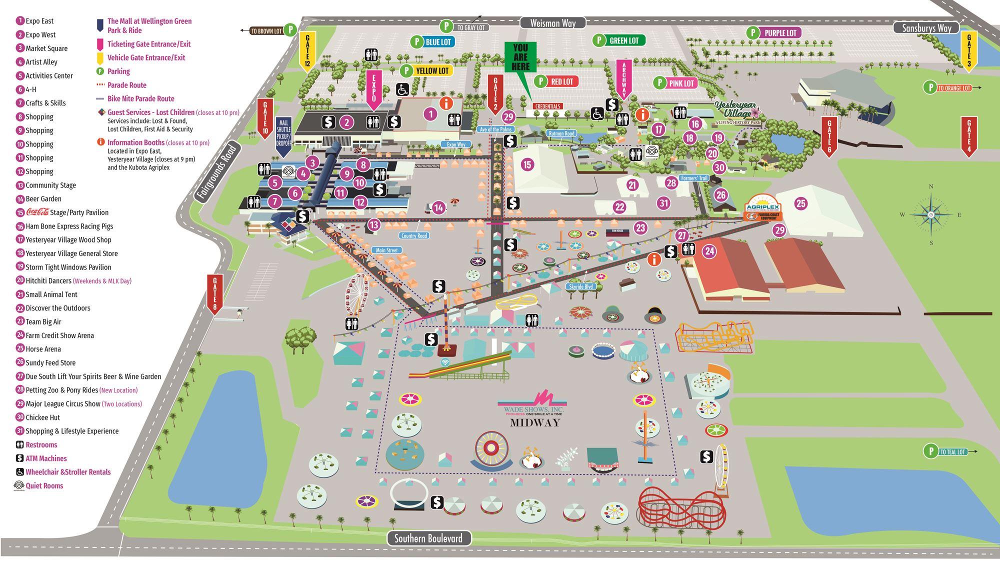 Fairgrounds Map Inside South Florida Fairgrounds Event Schedule