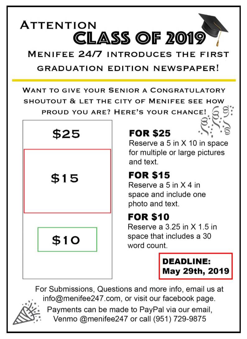 Families Can Contribute To Menifee 24/7 Graduation Edition With Paloma High School Menifee Year School Calendar