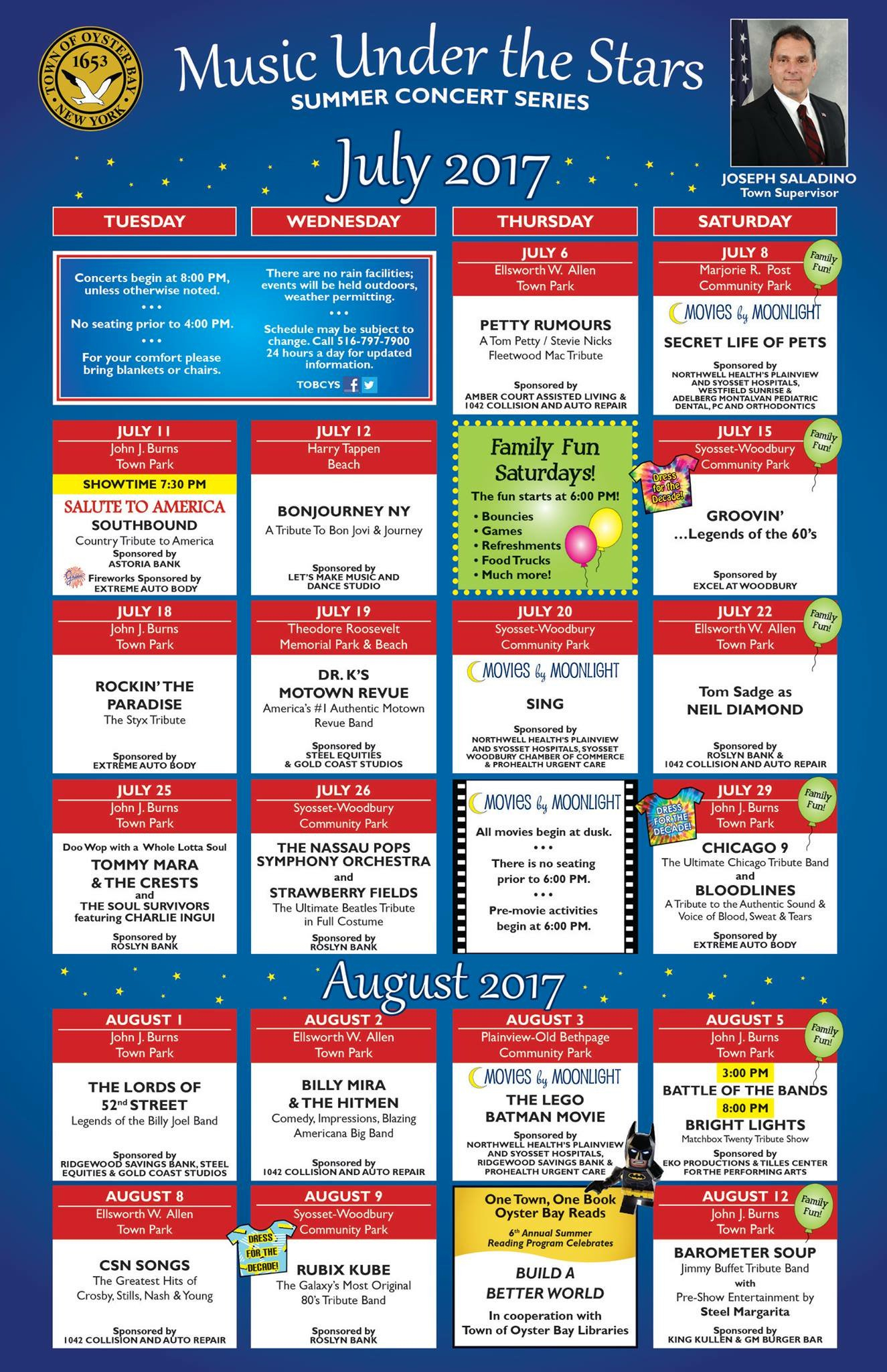 Family Fun Guide - All Of The Fun In One Place! In Town Of Oyster Bay Calander
