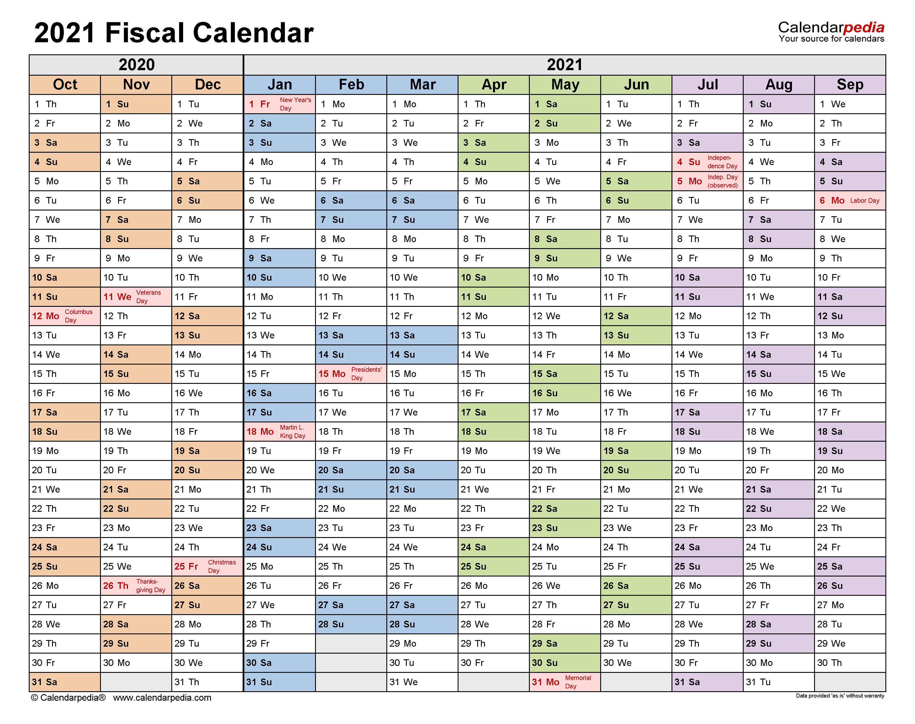 Fiscal Calendars 2021 – Free Printable Pdf Templates Regarding 4 5 4 Retail Calendar 2021