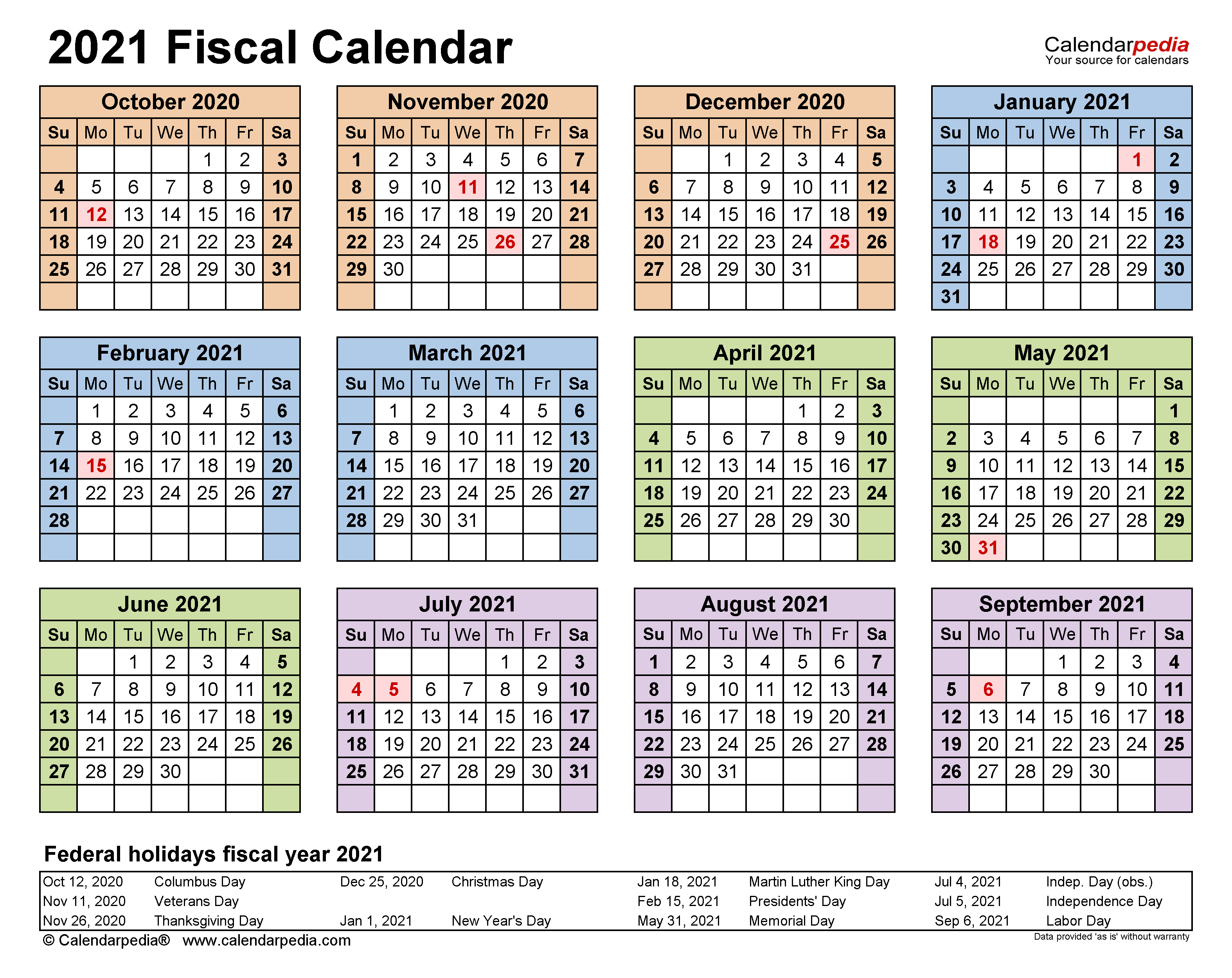 Fiscal Calendars 2021 – Free Printable Pdf Templates Regarding 454 Calendar For 2020