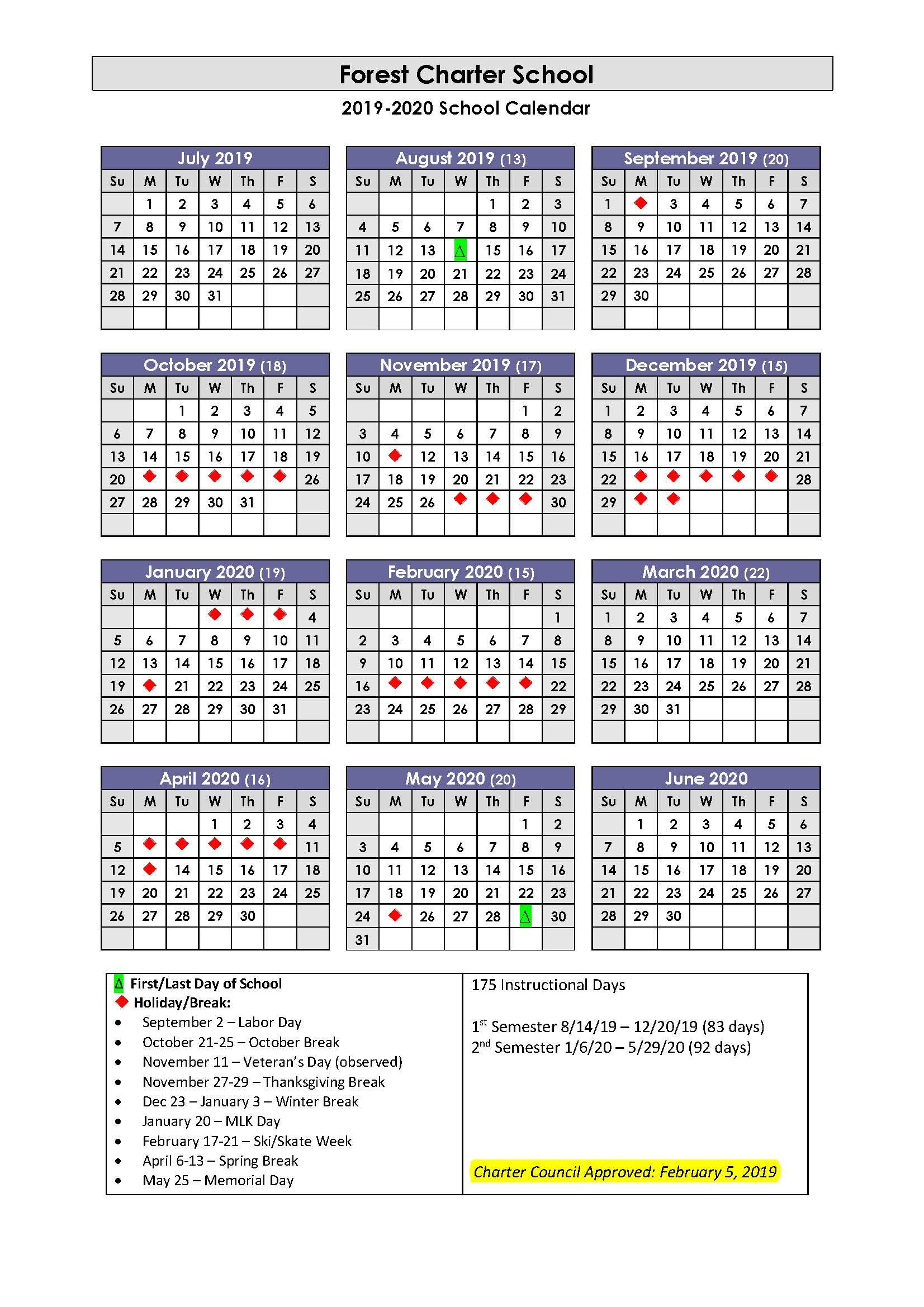 Forest Charter School / Homepage With Regard To West Bloomfield School Calendar 2021