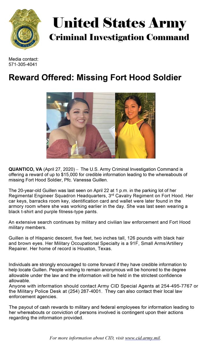 "Fort Hood On Twitter: ""missing Soldier Update: Reward Within Ft Hood Early Pay Day"