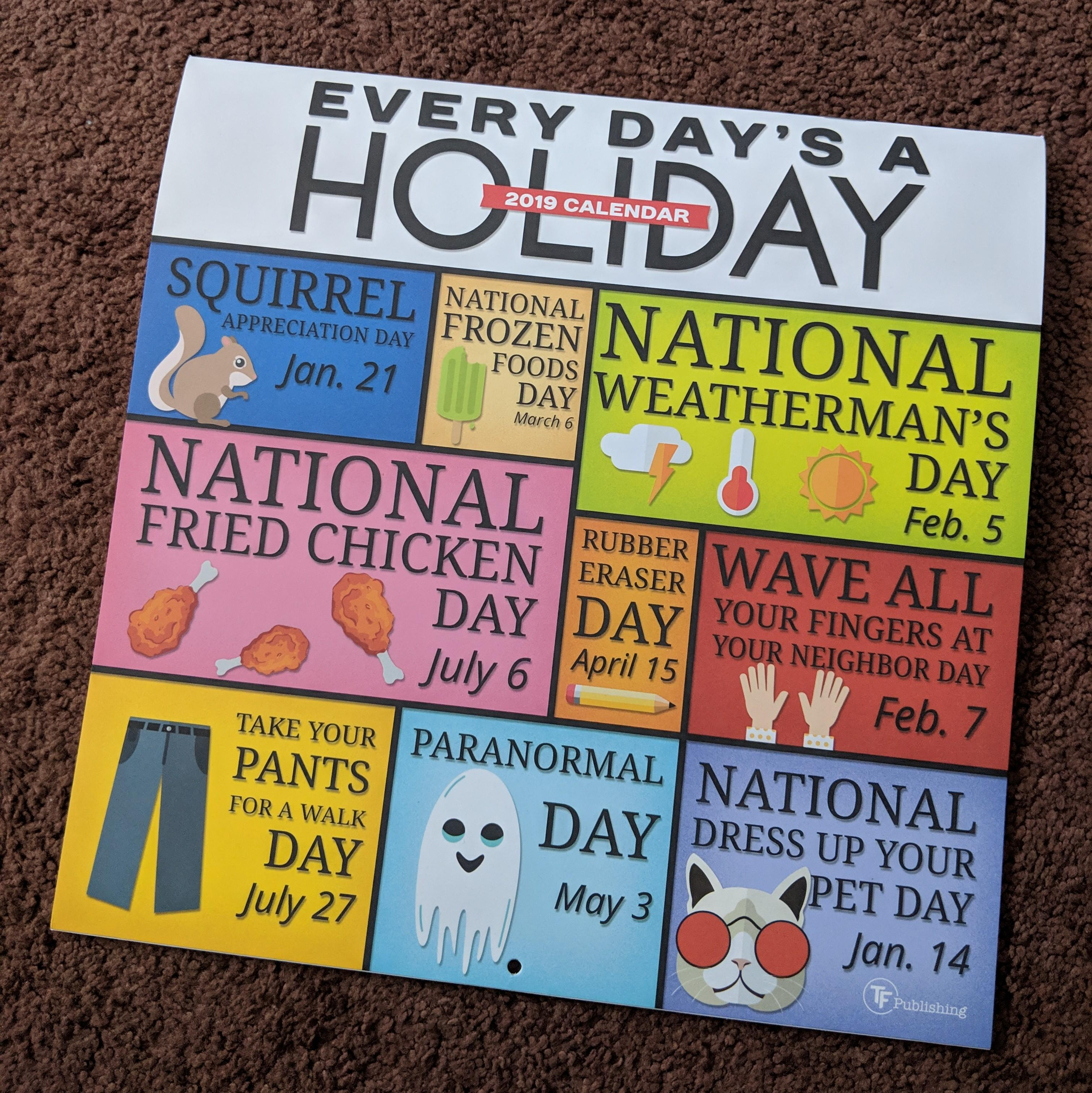 """Found This """"every Day Is A Holiday"""" Calendar At A Five Below Within Every Day Is A Holiday Calendar"""