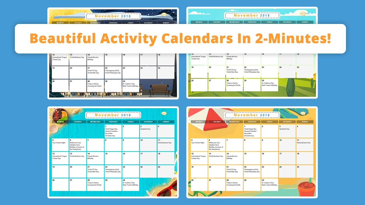 Free Activity Calendar For Seniors With What Is The Size Of The Activity Calendar For The Facility To Posted