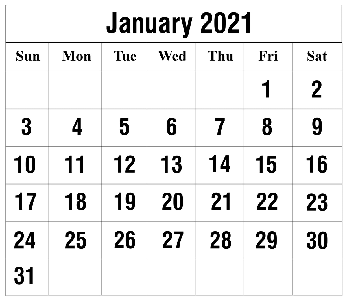 Free January 2021 Printable Calendar Template In Pdf, Excel Regarding Julian Vs Gregorian Calendar 2021