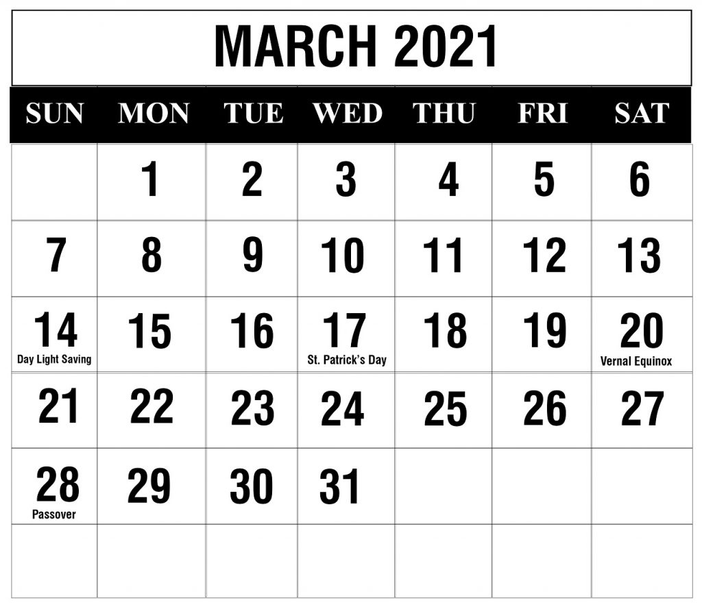 Free March 2021 Printable Calendar Template In Pdf, Excel In Julian Vs Gregorian Calendar 2021