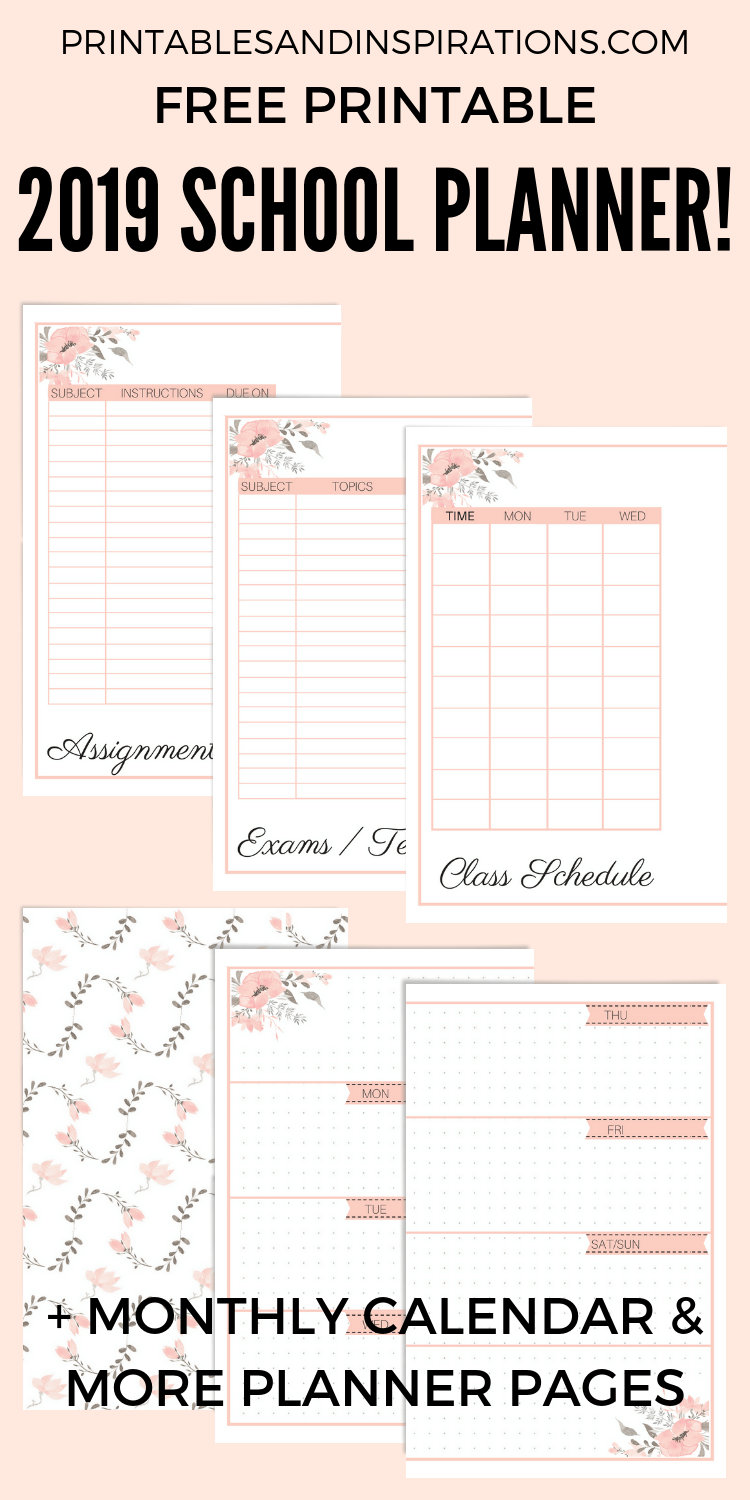 Free Printable 2020 School Planner (Updated | School Planner In Bay City Public Schools Calender 2021 2020