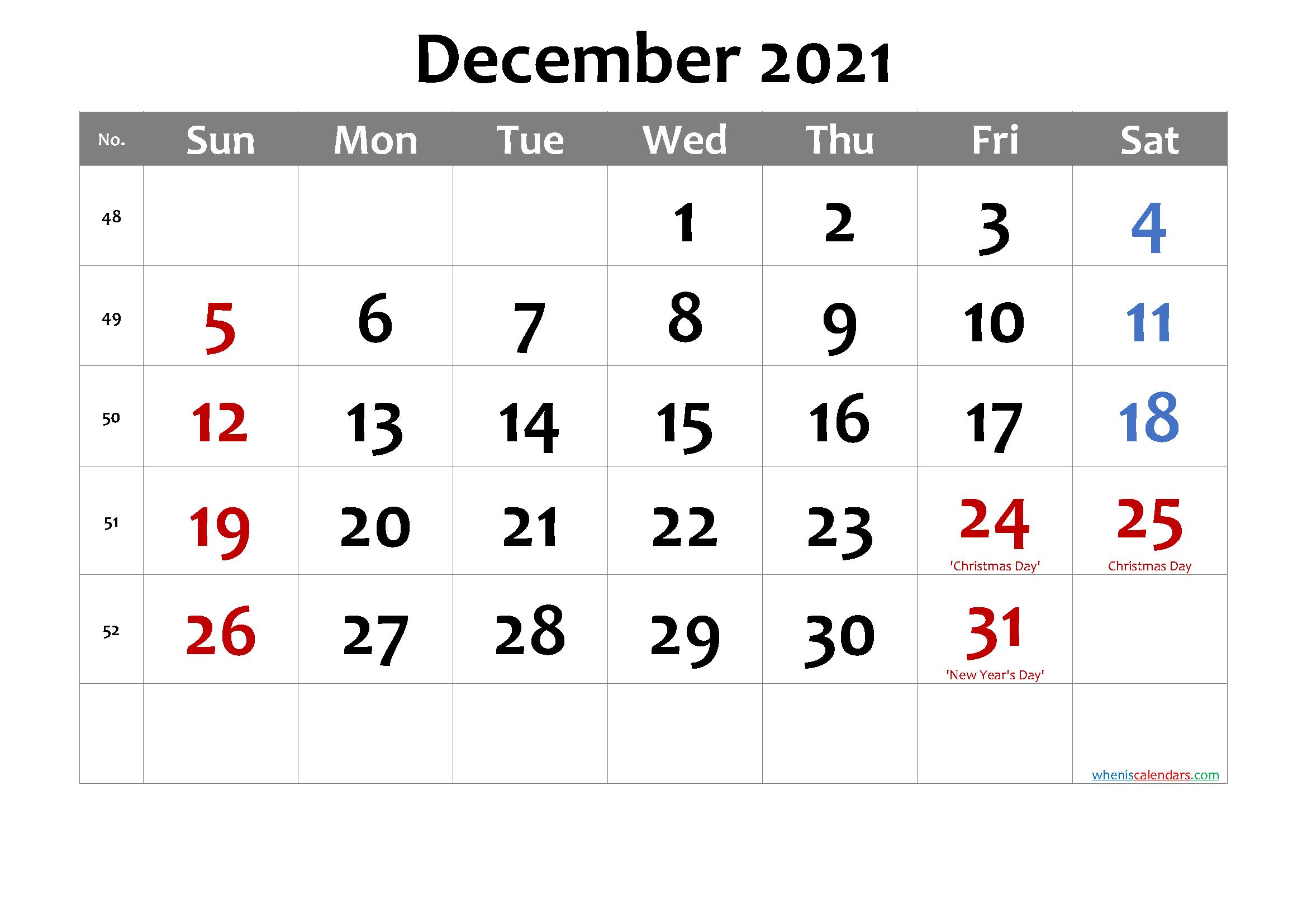 Free Printable December 2021 Calendar Word Template No Inside Word Of The Day Calendar 2021