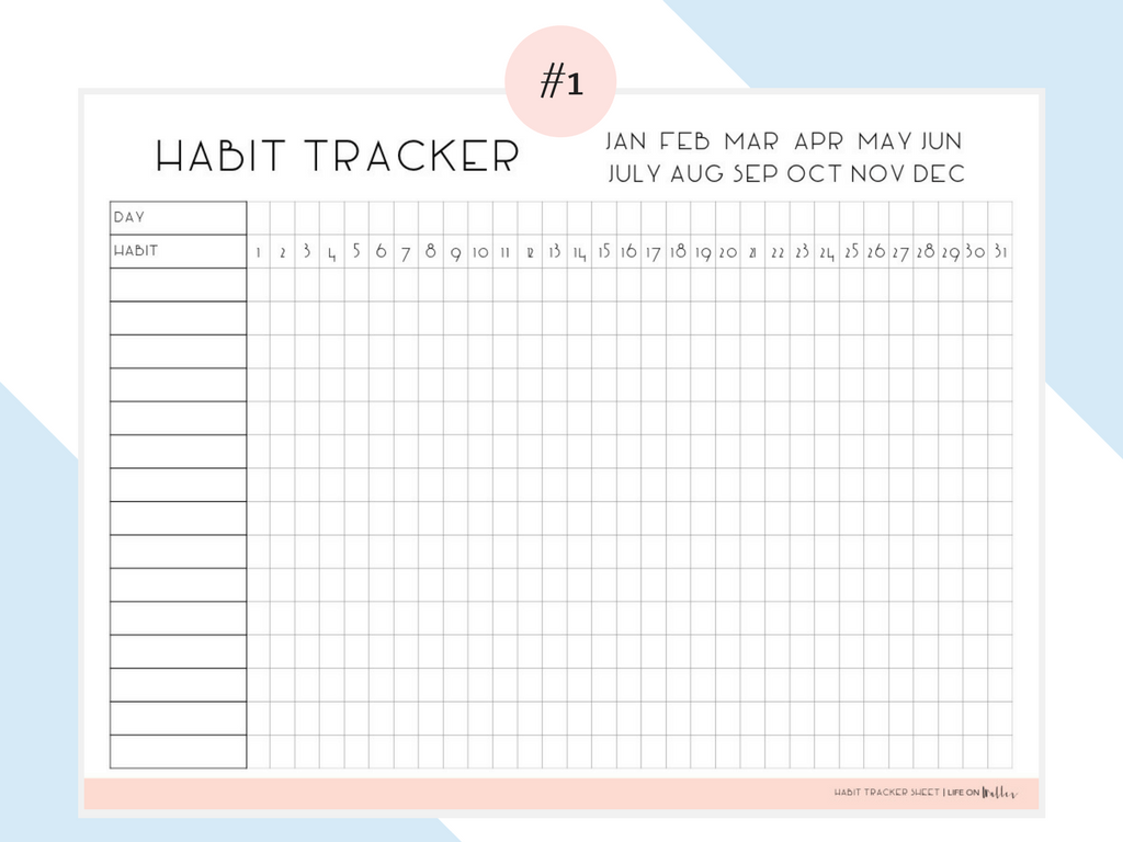 Free Printable Habit Tracker (С Изображениями) | Шаблон In Printable 30 Day Squat Challenge January 2021