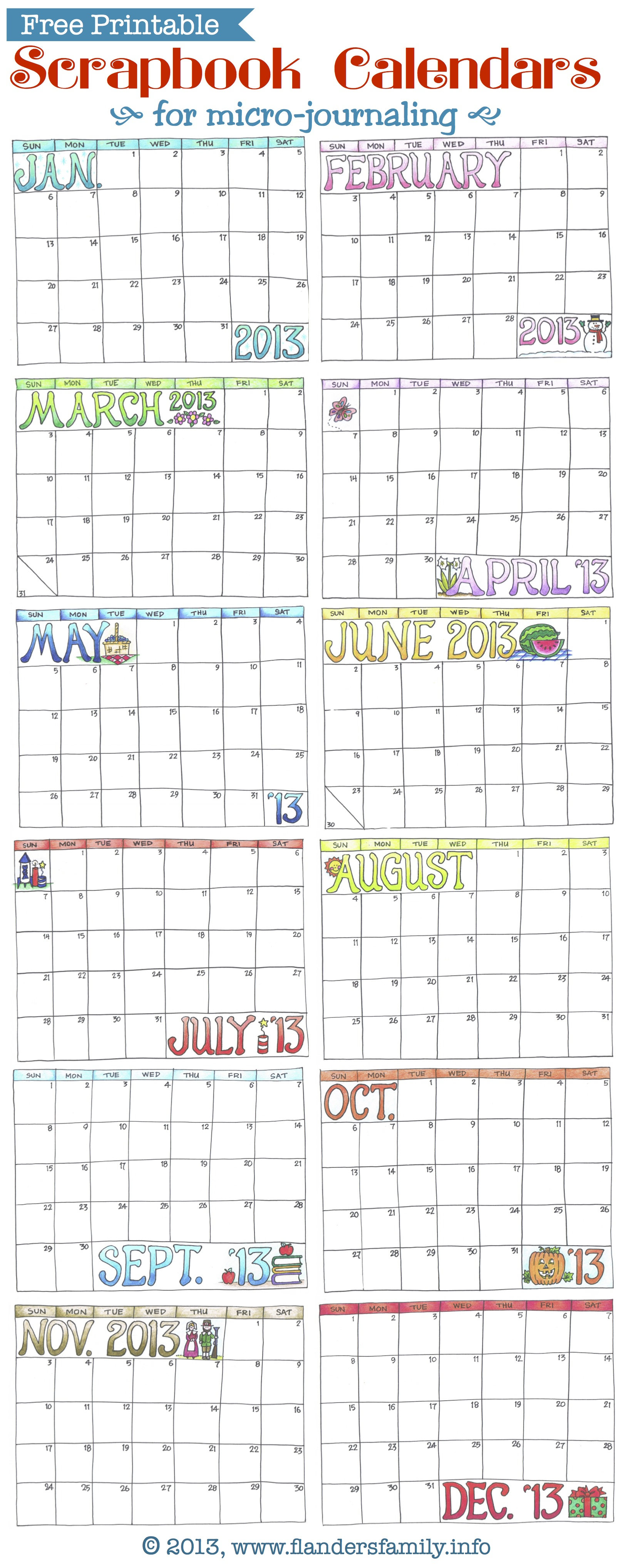 Free Printables Archives - Flanders Family Homelife Throughout Flanders Family 2020 Academic Calendar  2021