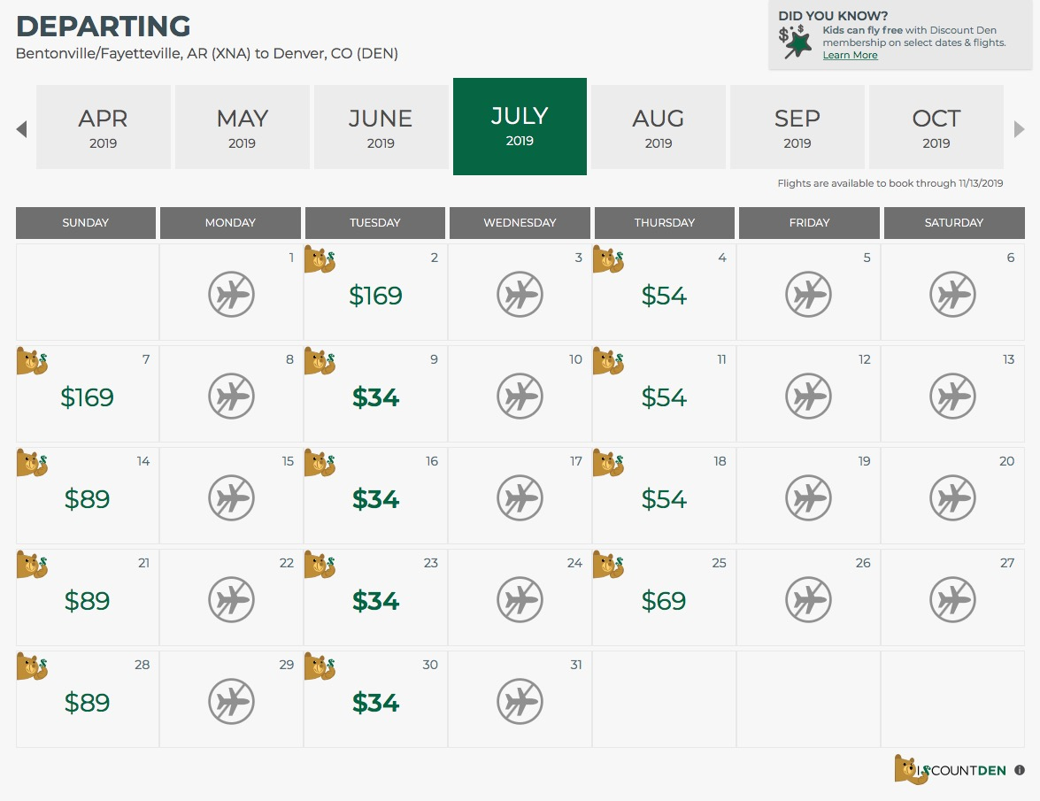 Frontier Airlines Announces Low Cost Flights Between Denver Throughout Frontier Low Fare Calendar Flights