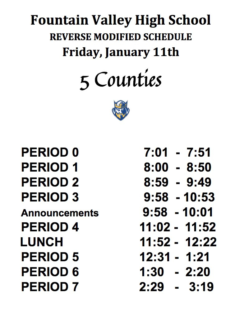 """Fvhs On Twitter: """"barons, We Will Be On A Reverse Modified Within Fvhs School Calendar"""