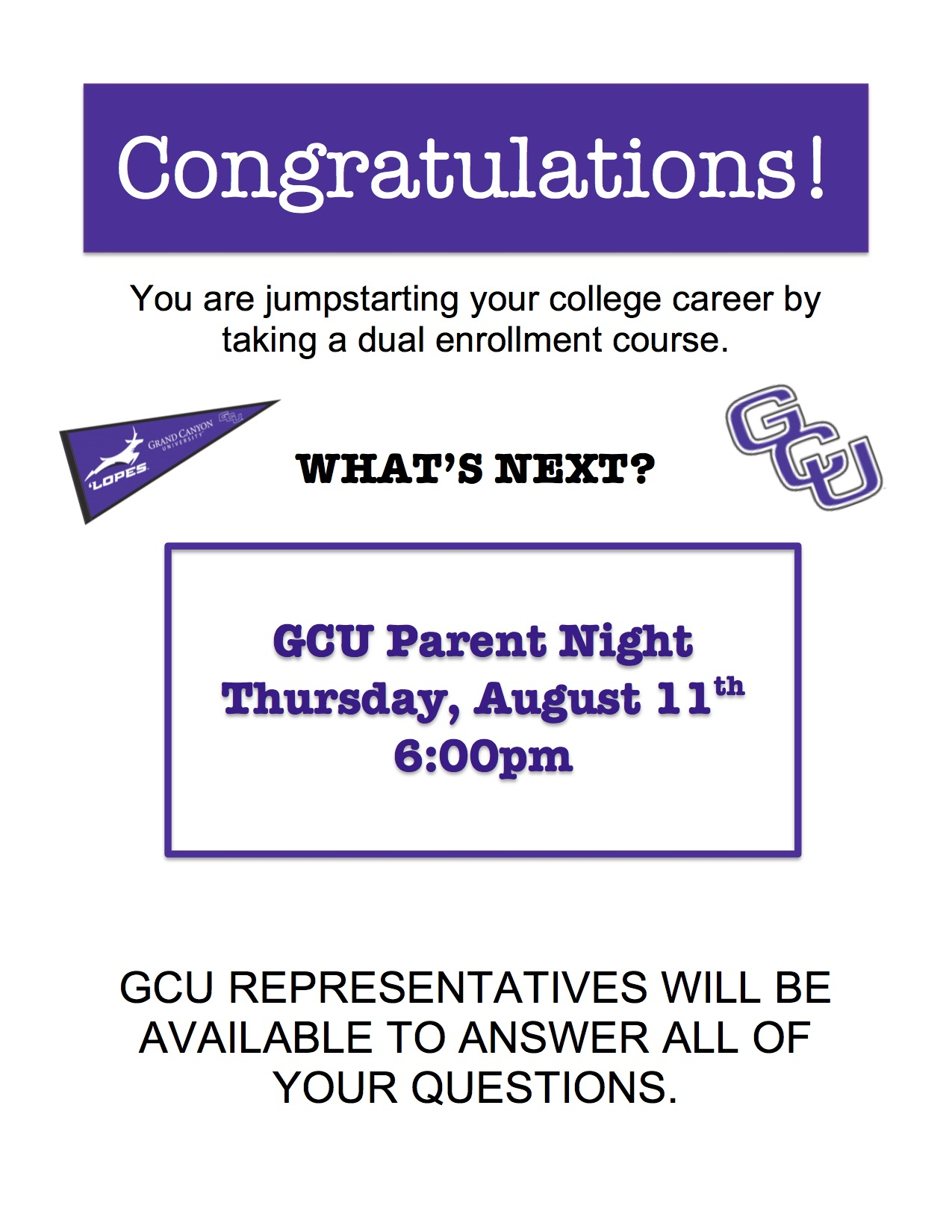 Gcu Parent Night Intended For 2021 2020 Gcu Academic Calendar