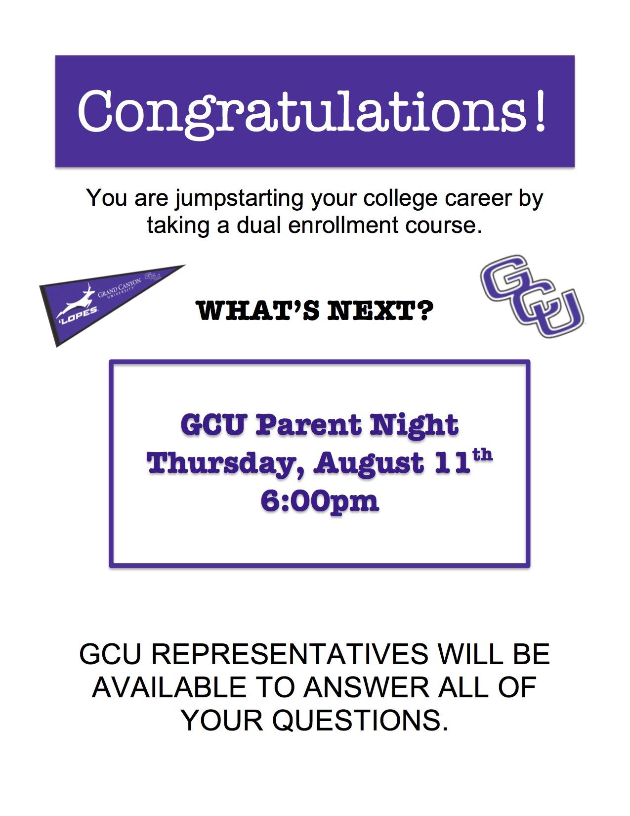 Gcu Parent Night Within Gcu 2021 2020 Academic Calendar
