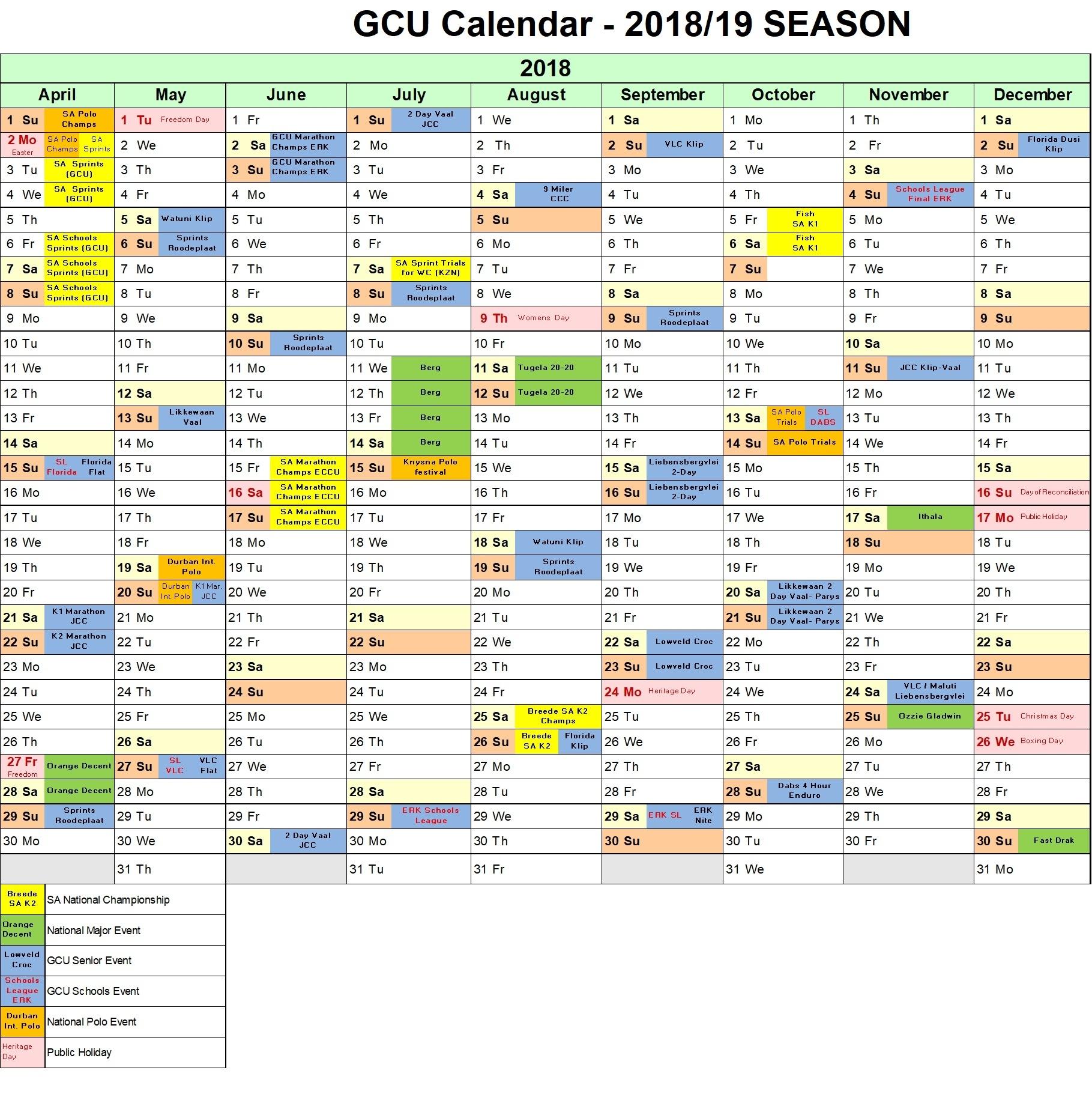 Gcu School Calendar 2019 2020 – Samyysandra Regarding 2020 Gcu Academic Calendar