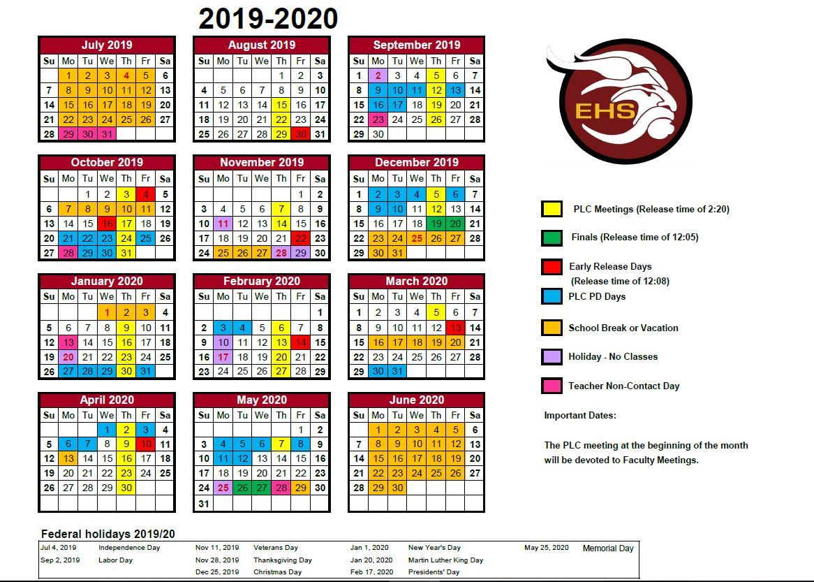 General Information / Bell And Calendar Schedules Pertaining To Corona School District Calendar