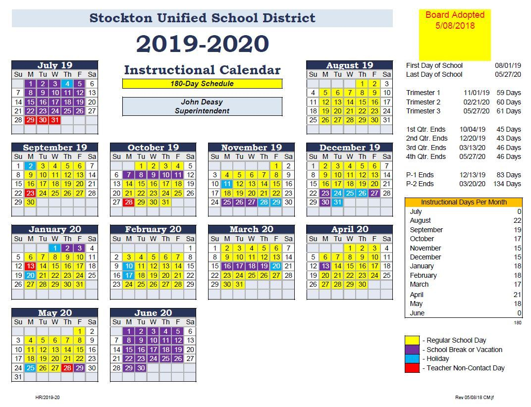 General Information / Bell And Calendar Schedules With Martinez Unified School Calendar