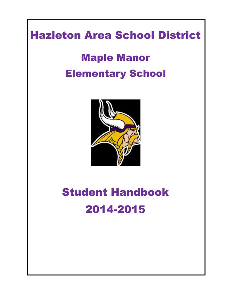 Hazleton Area School District Student Handbook 2014 2015 In Hazleton Area Academic Calendar