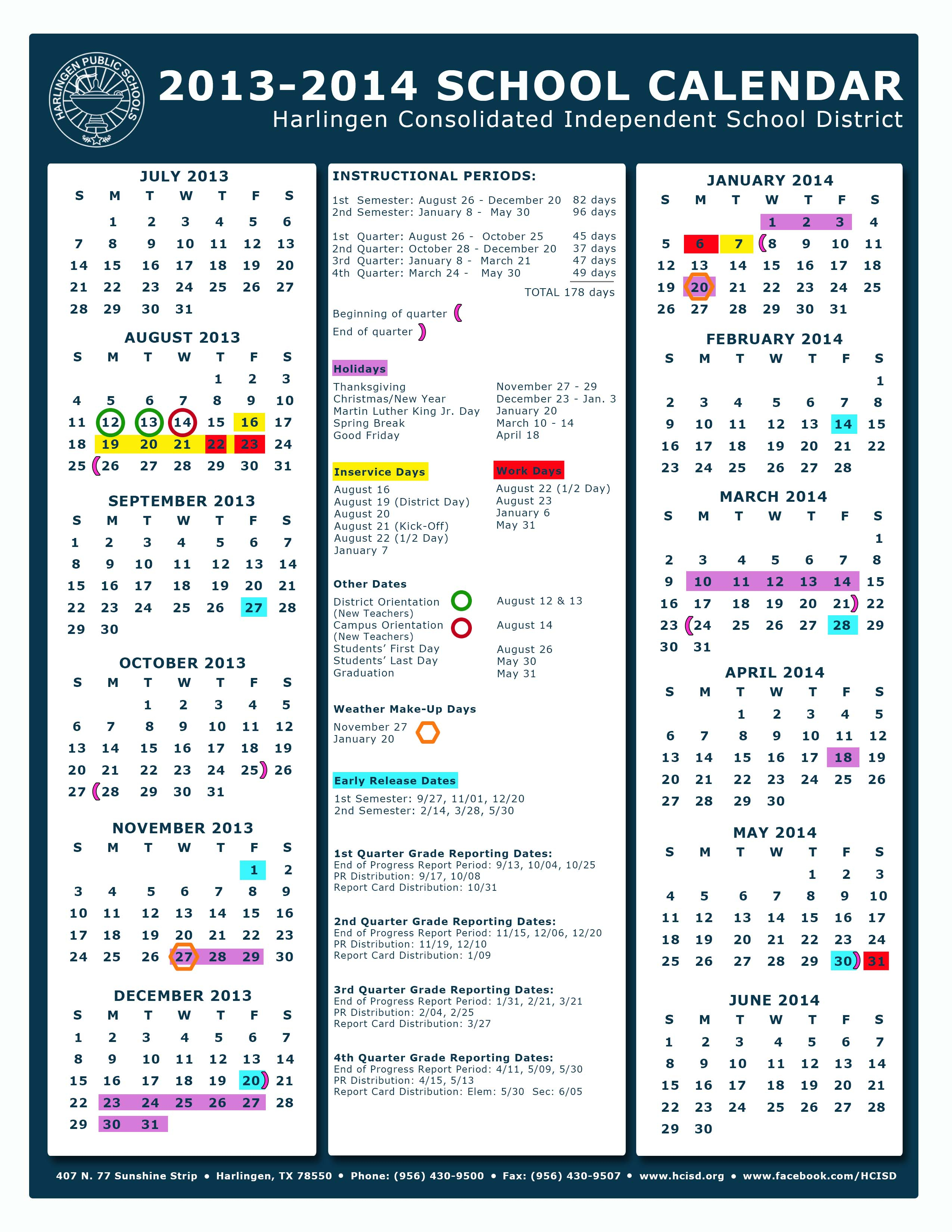 Hcisd Board Of Trustees Approve Change To 2013 2014 Academic With Bunker Hill Community College Academic Calendar