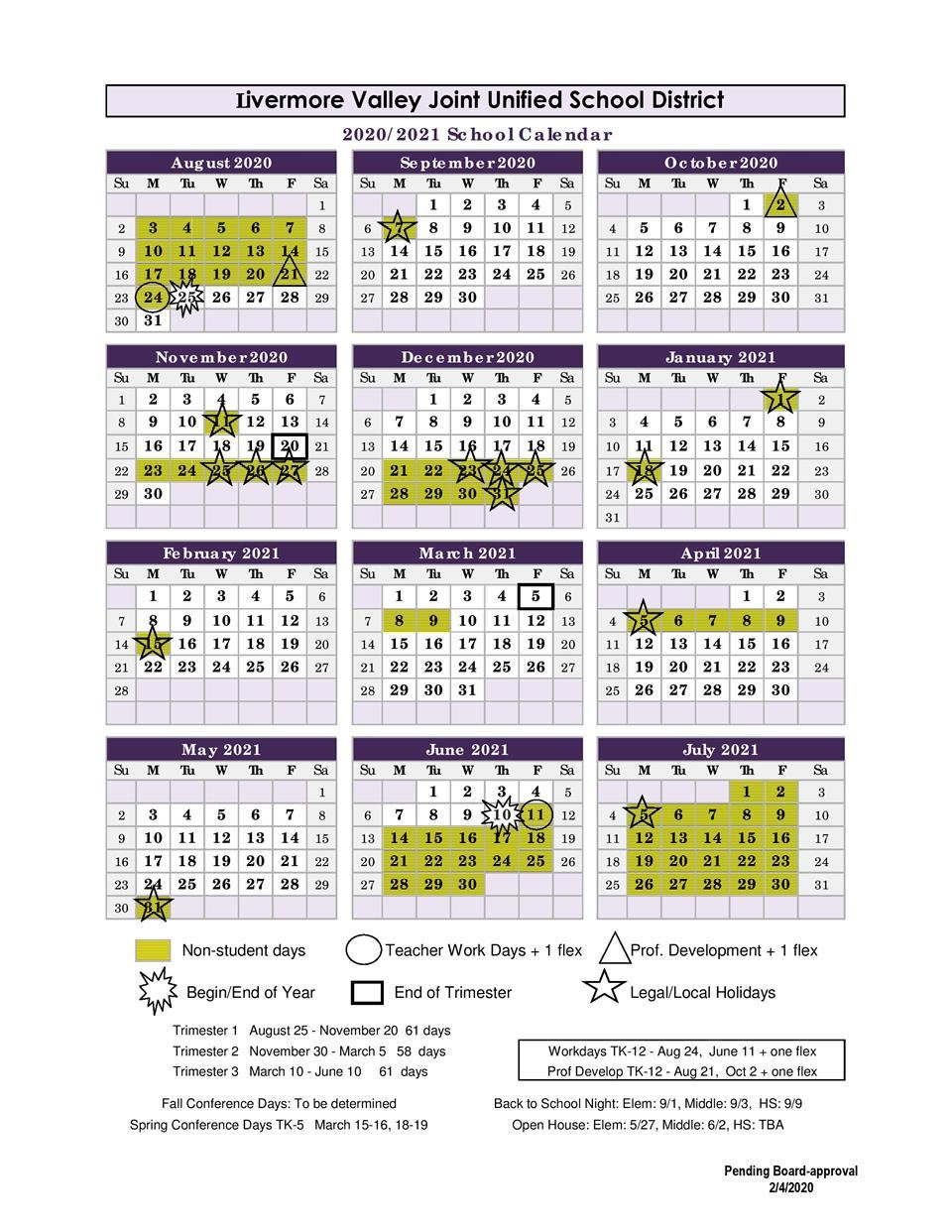 Headlines & Features For Livermore School Calendar