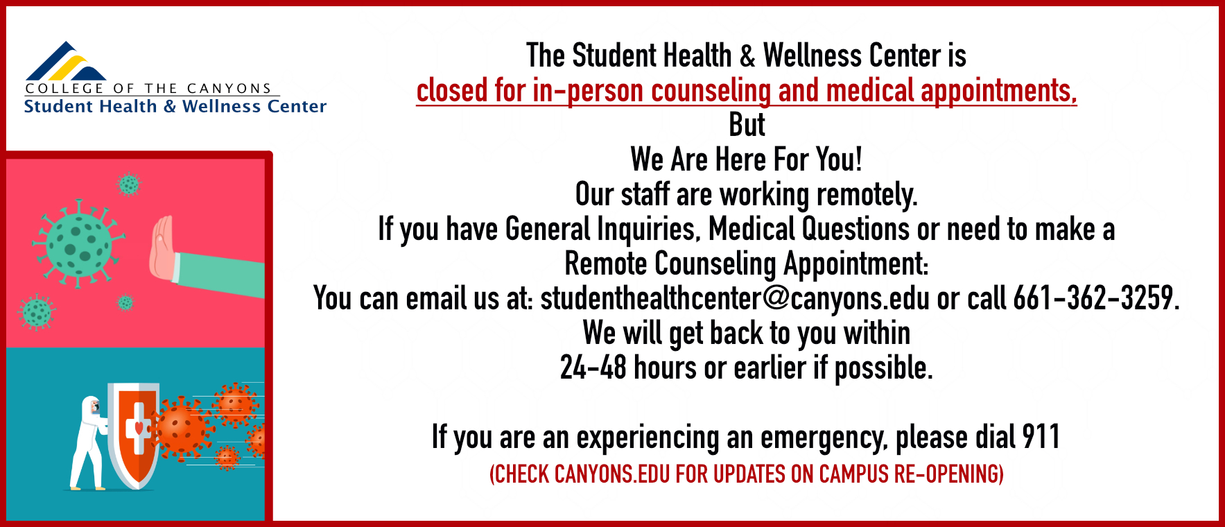 Health & Wellness Center With Regard To When Does Spring Semester Start For Laverne University In College Of The Canyons