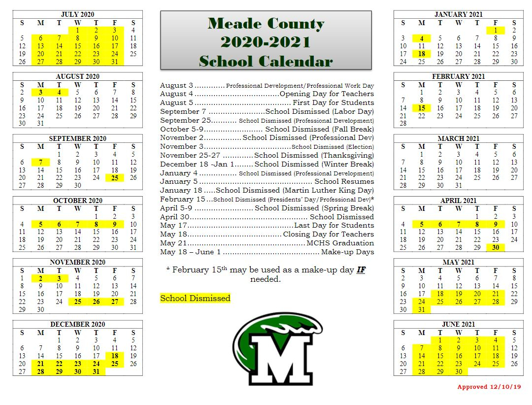 Home - Meade County School District In Madison County Ky School Calender