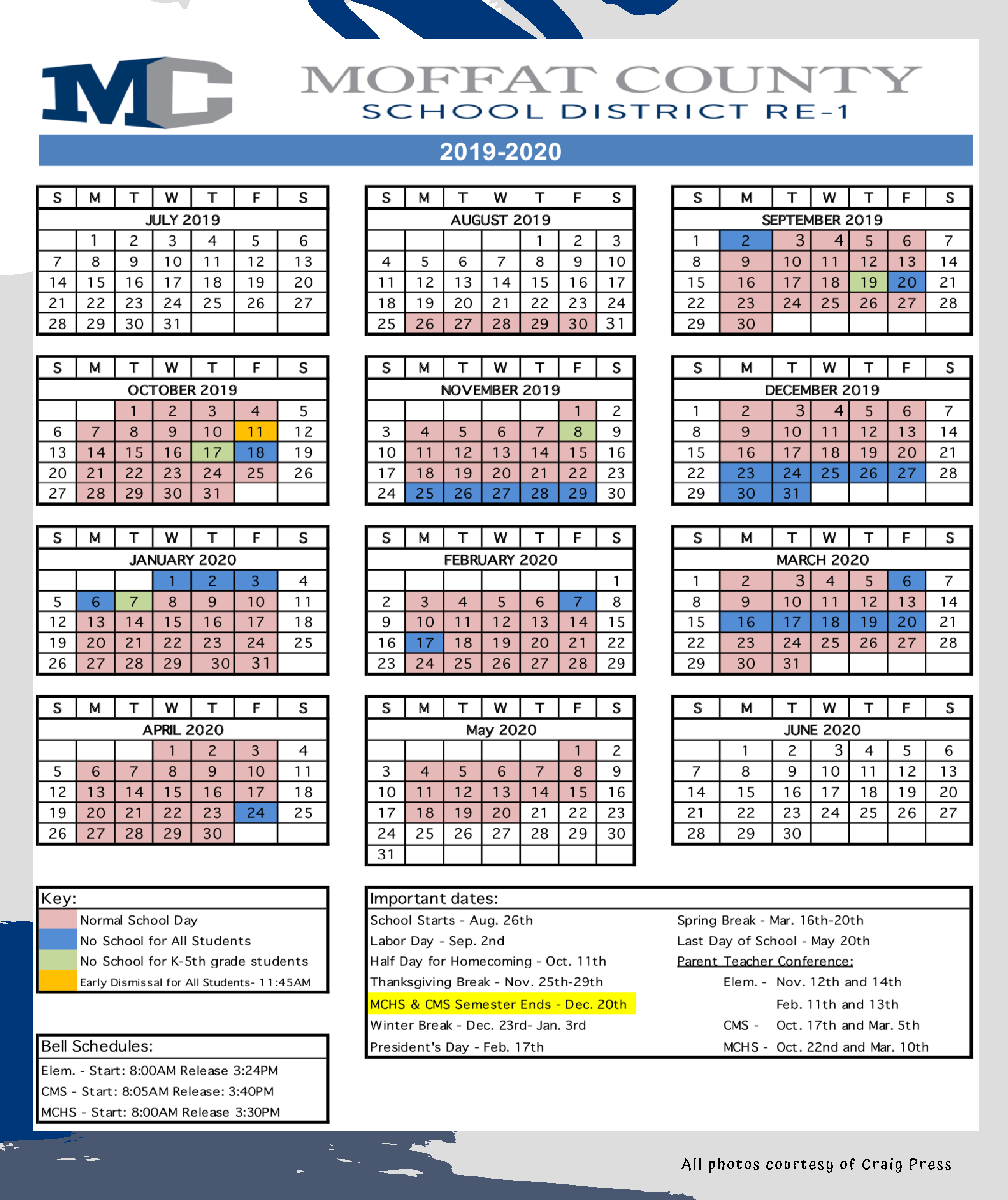 Home - Moffat County School District Throughout Middle Country School District Calendar