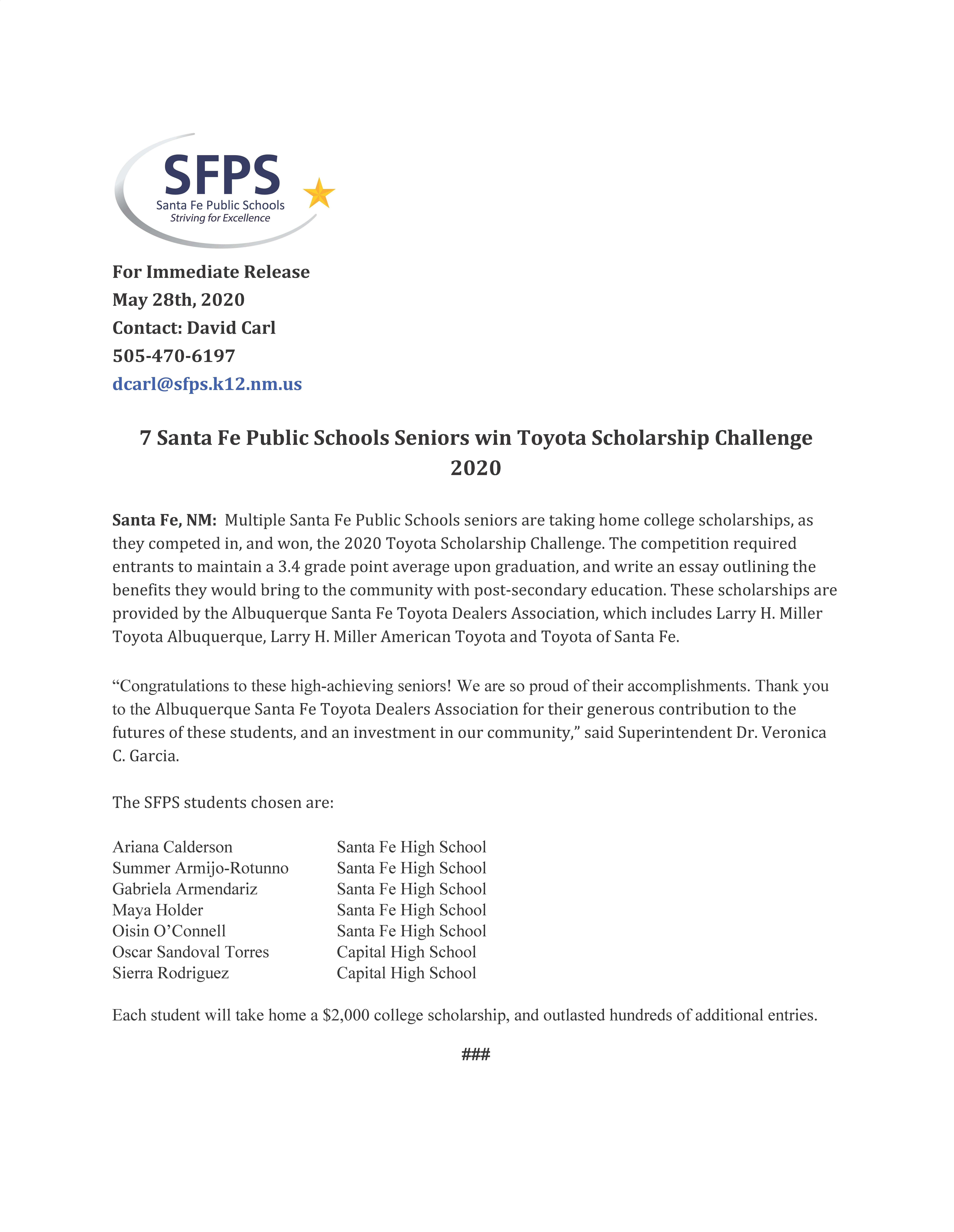 Home - Santa Fe Public Schools For Santa Fe Public Schools Calendar